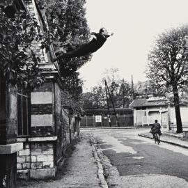 Yves Klein-Shunk-Kender-Leap Into The Void (5 Rue Gentil-Bernard Fontenay-Aux-Roses October 1960) (Artistic Action By Yves Klein - Collaboration Harry Shunk And Janos Kender)-1960