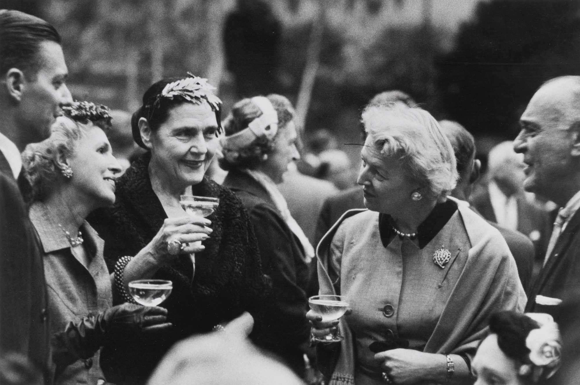 Robert Frank-Garden Party Nyc (Museum Of Modern Art)-1955