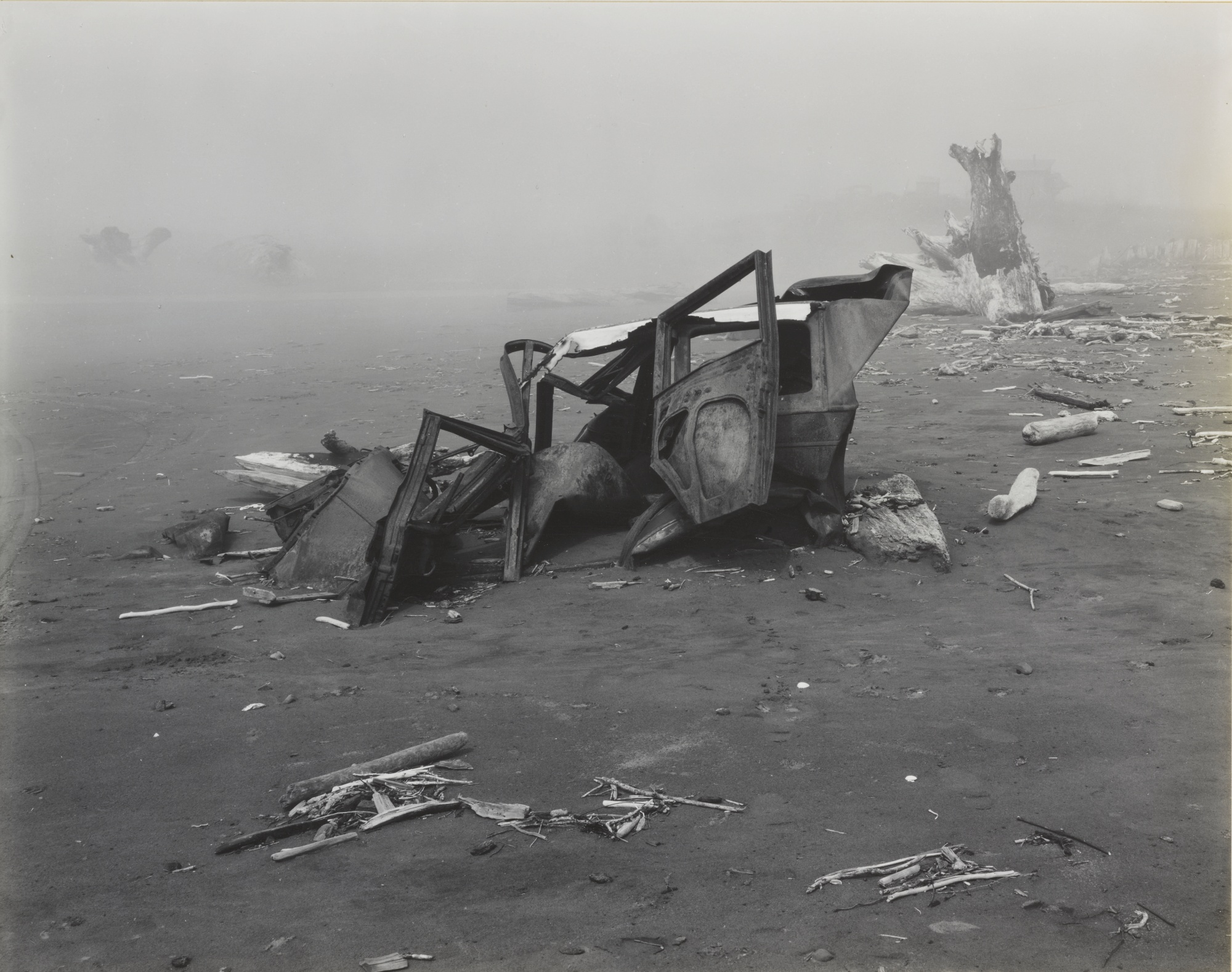Edward Weston-Abandoned Car Crescent Beach-1939