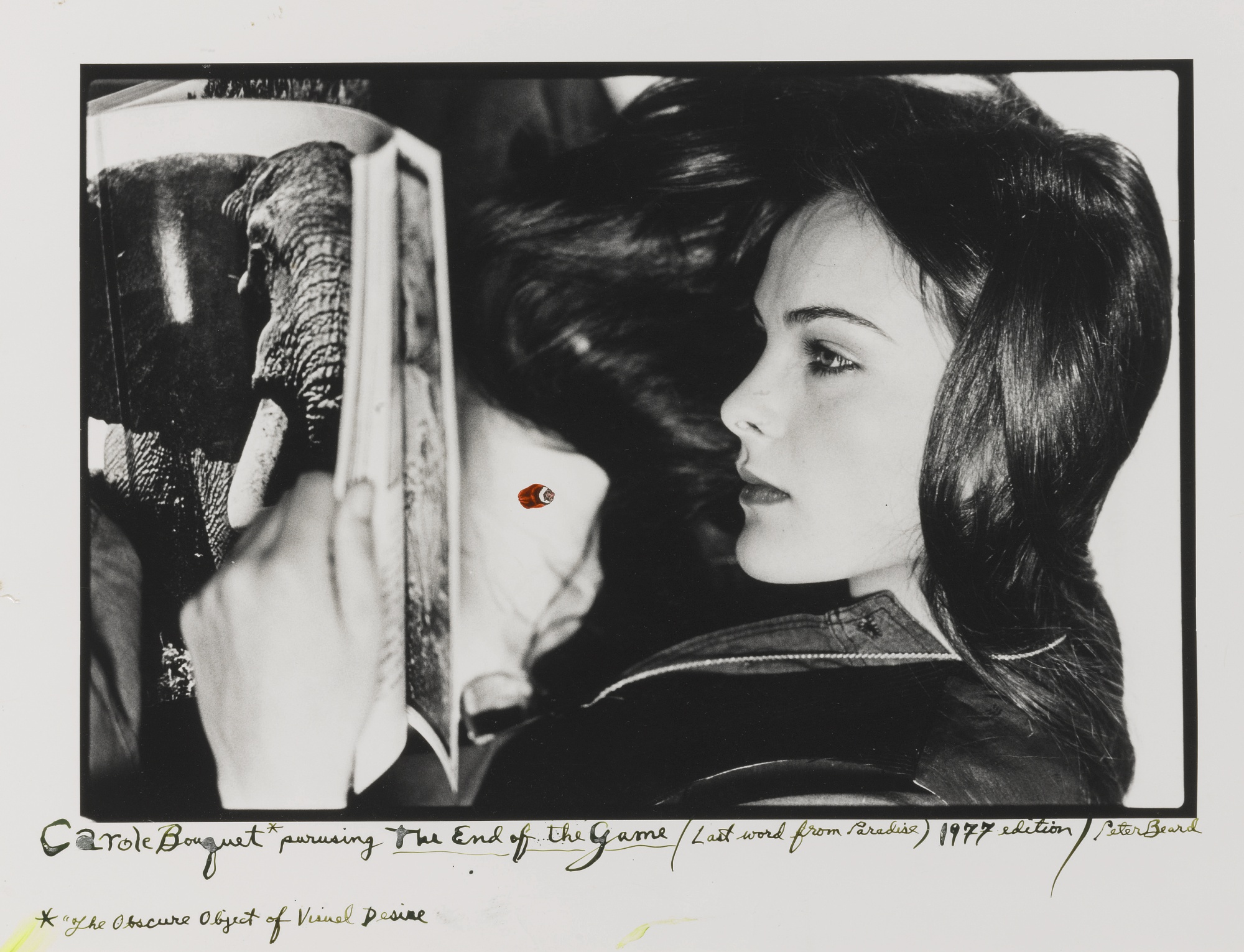 Peter Beard-Carole Bouquet Perusing The End Of The Game (Last Word From Paradise) 1977 Edition-1975