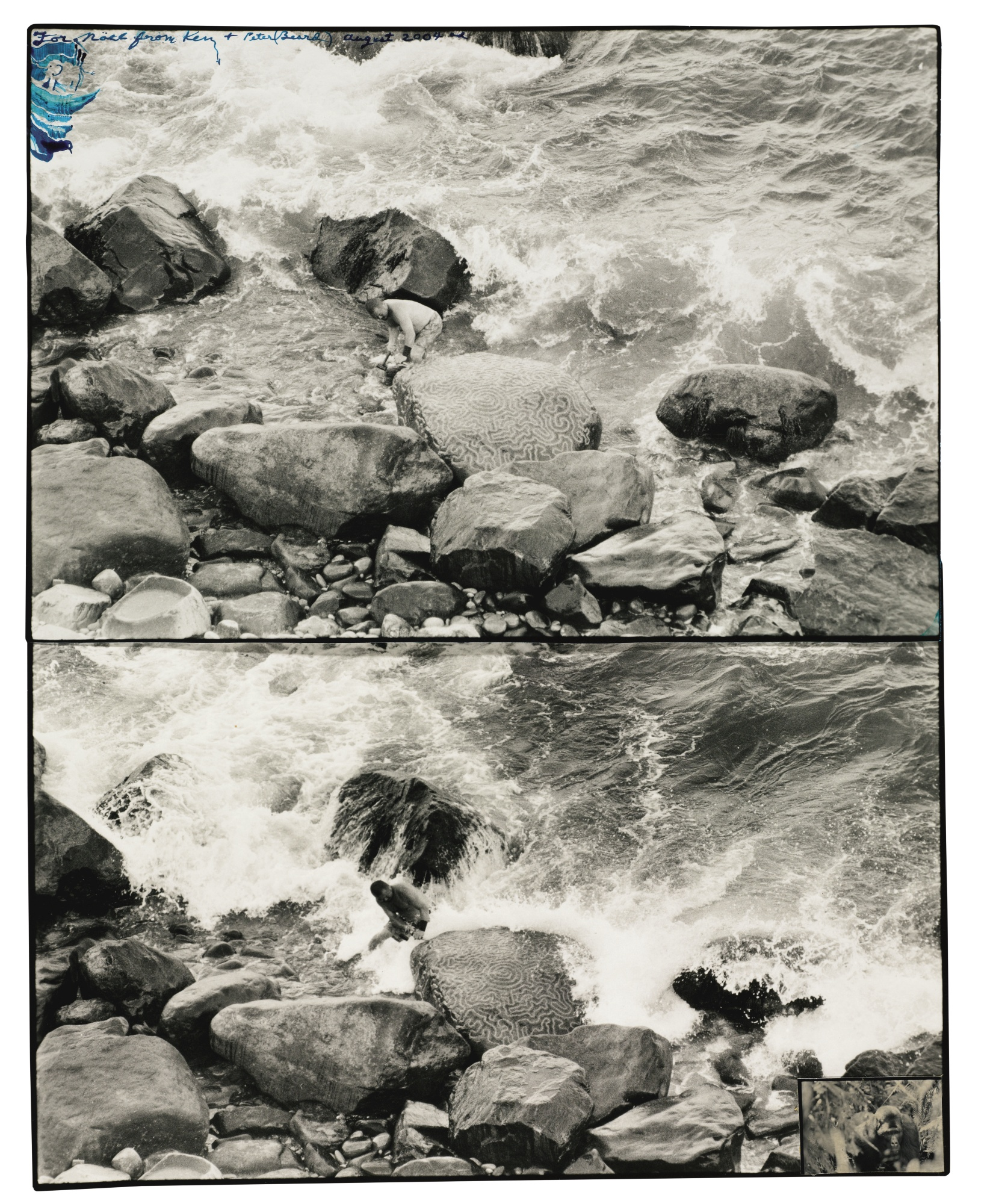 Peter Beard-Ken Hiratsuka Creating Drifted Coral-2004