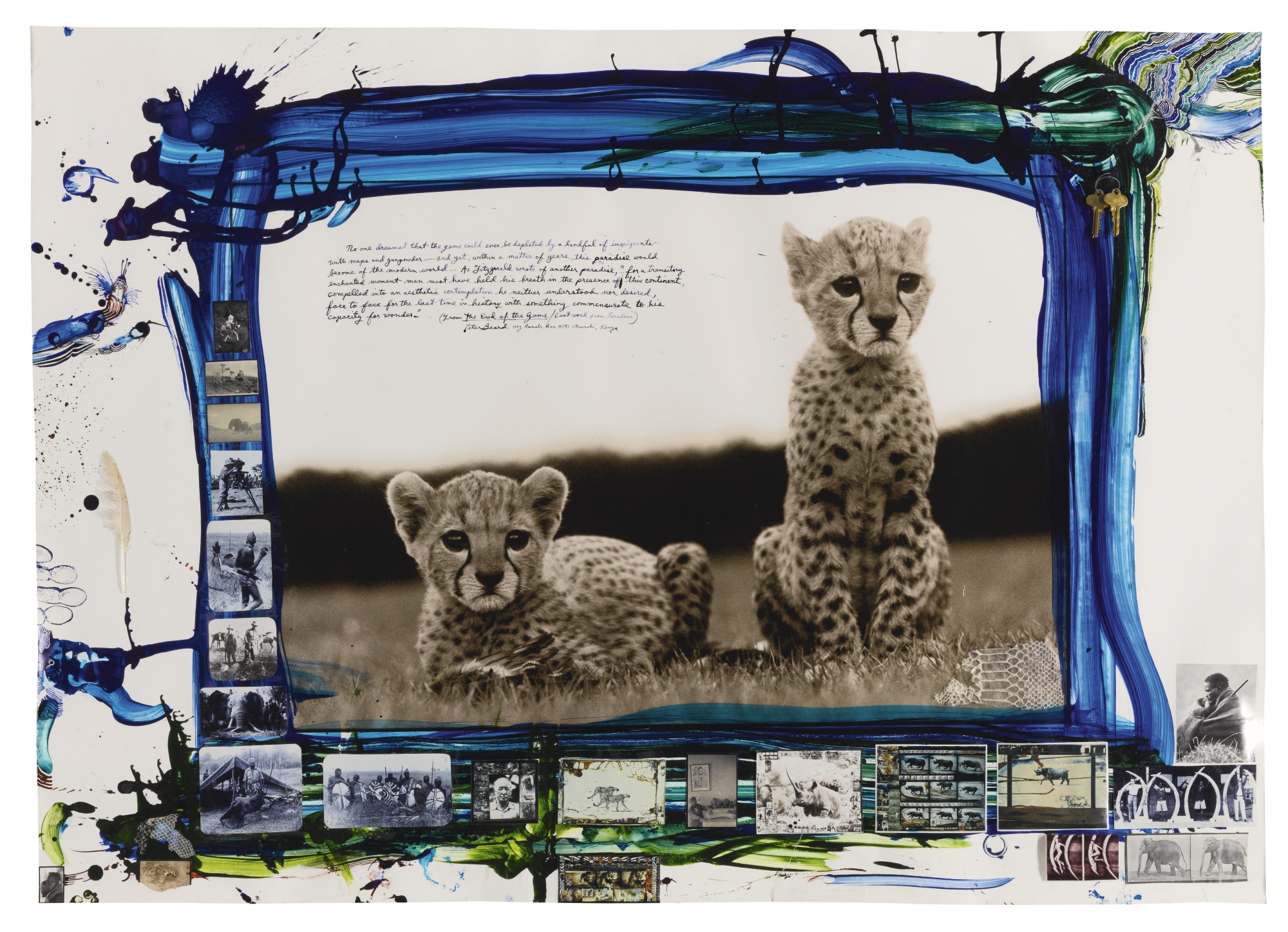 Peter Beard-Orphaned Cheetah Cubs Mweiga Kenya-1968