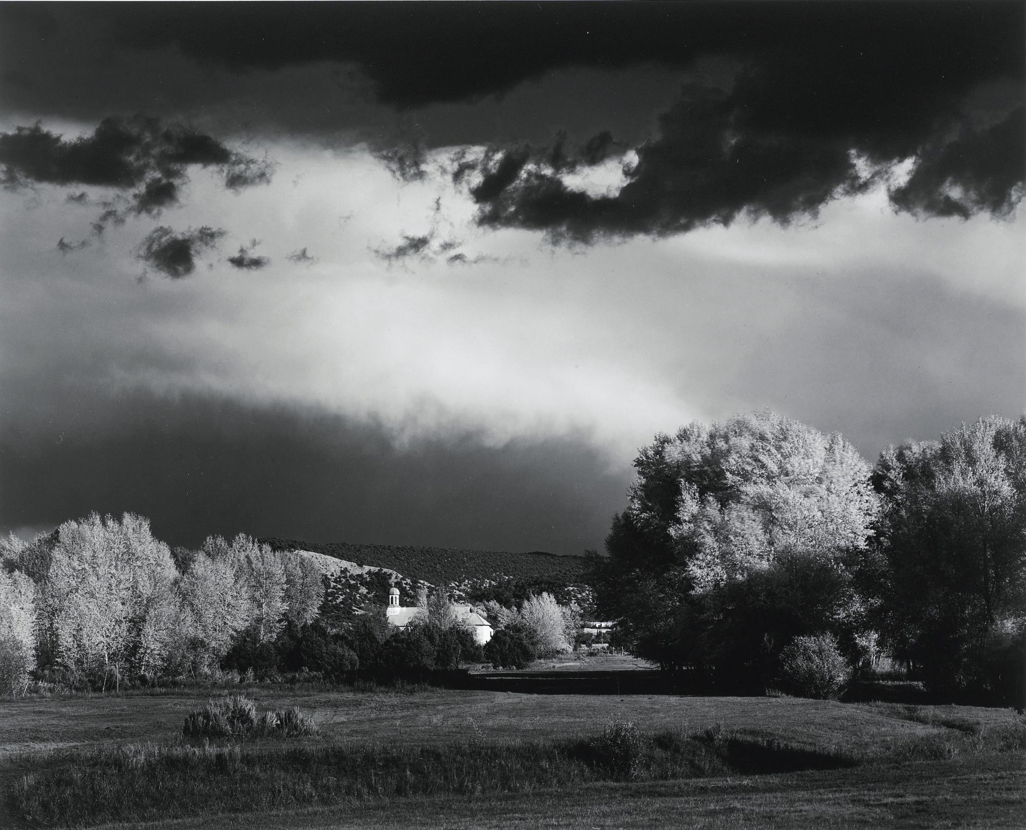 Ansel Adams-Autumn Storm Near Las Trampas New Mexico-1958