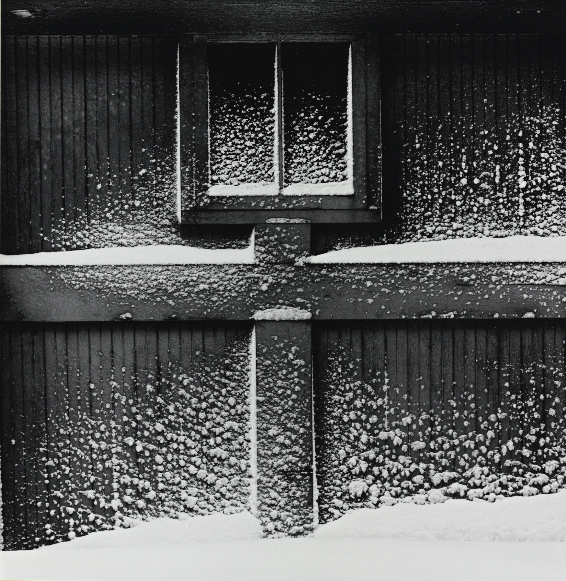 Minor White-Haags Alley Rochester N. Y. (Snow On Garage Door)-1960