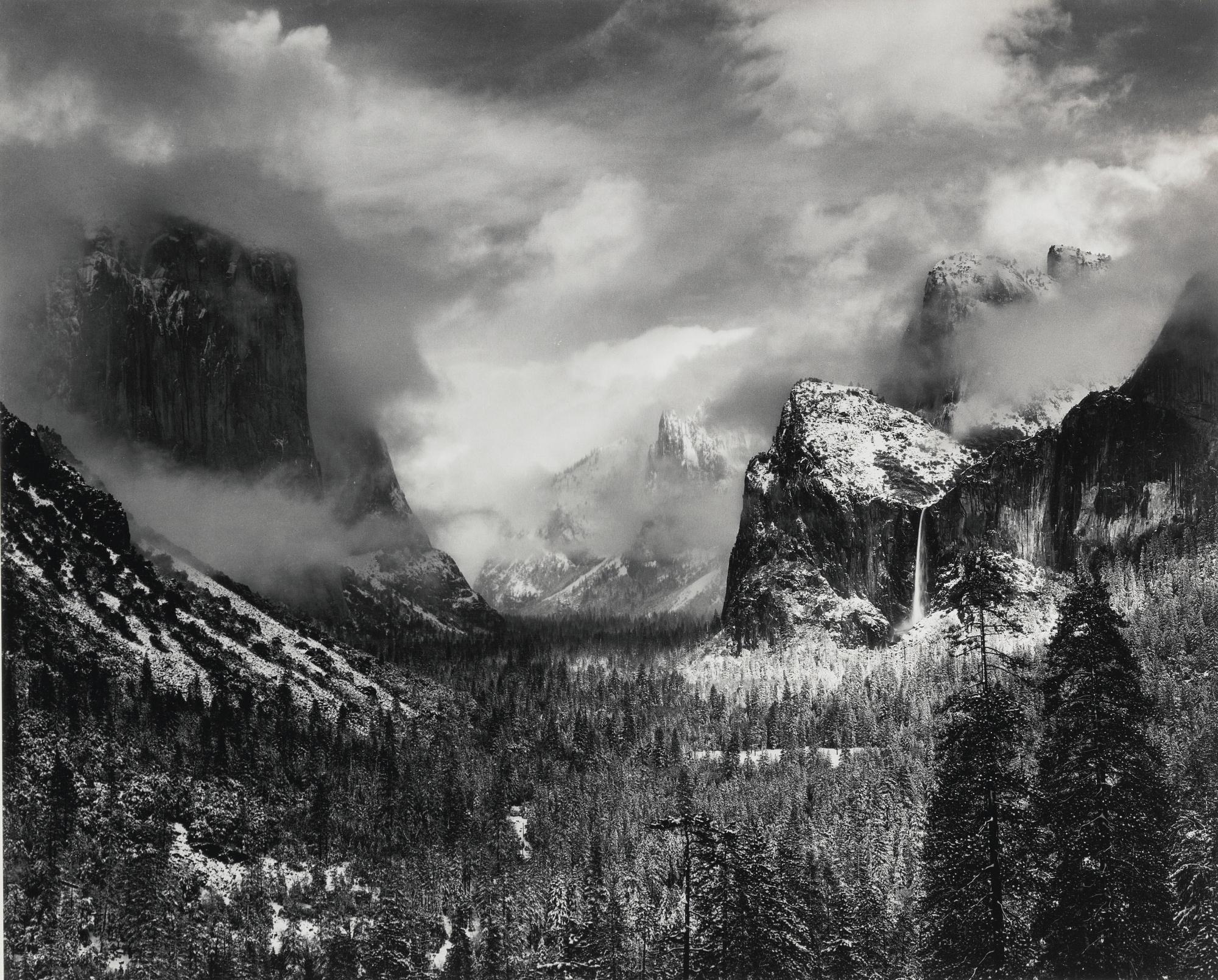 Ansel Adams-Winter Storm Yosemite Valley-1944
