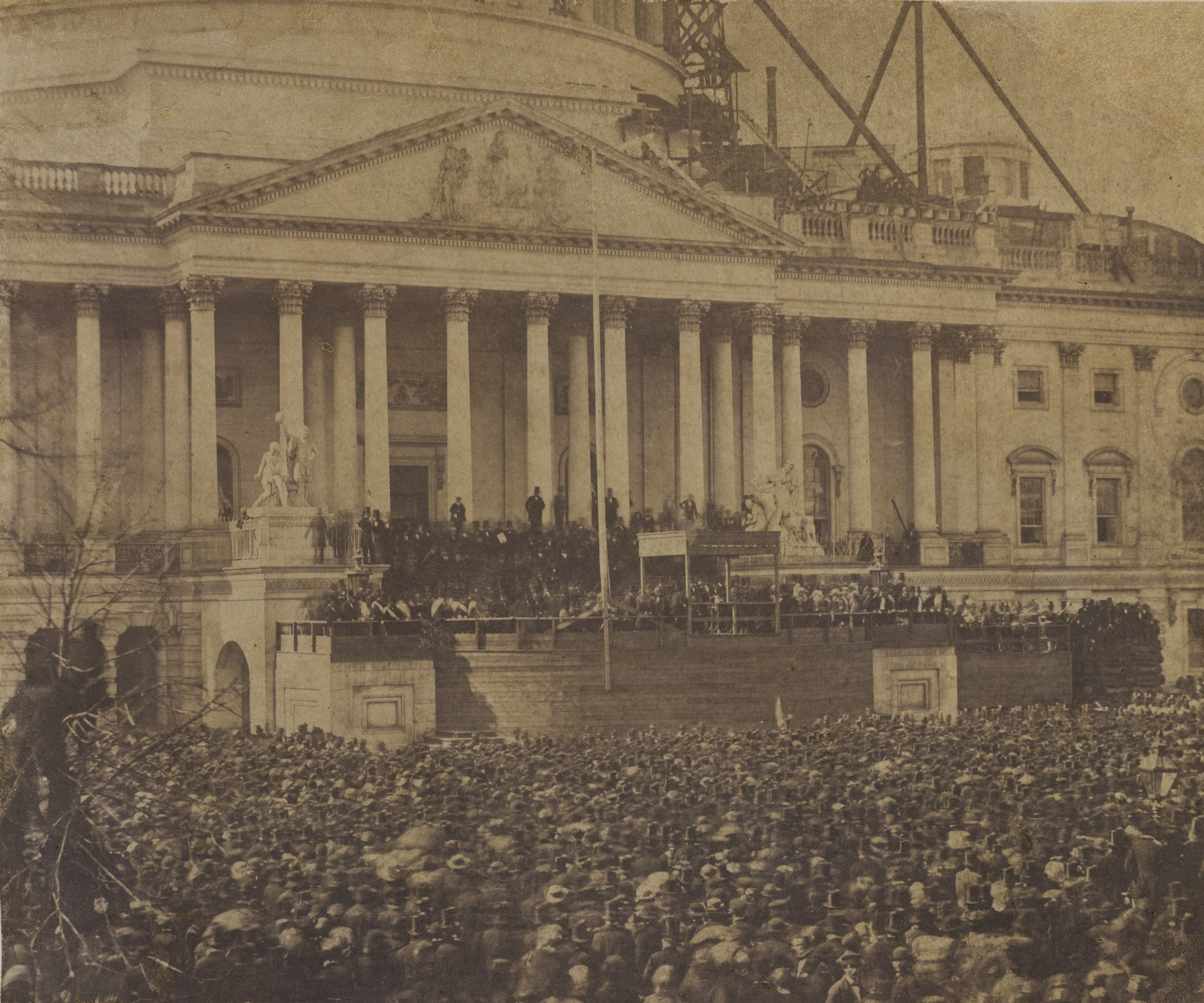 Photographer Unknown (possibly Alexander Gardner 1821-1882) - The First InauguralOf Abraham Lincoln 4 March 1861-1861