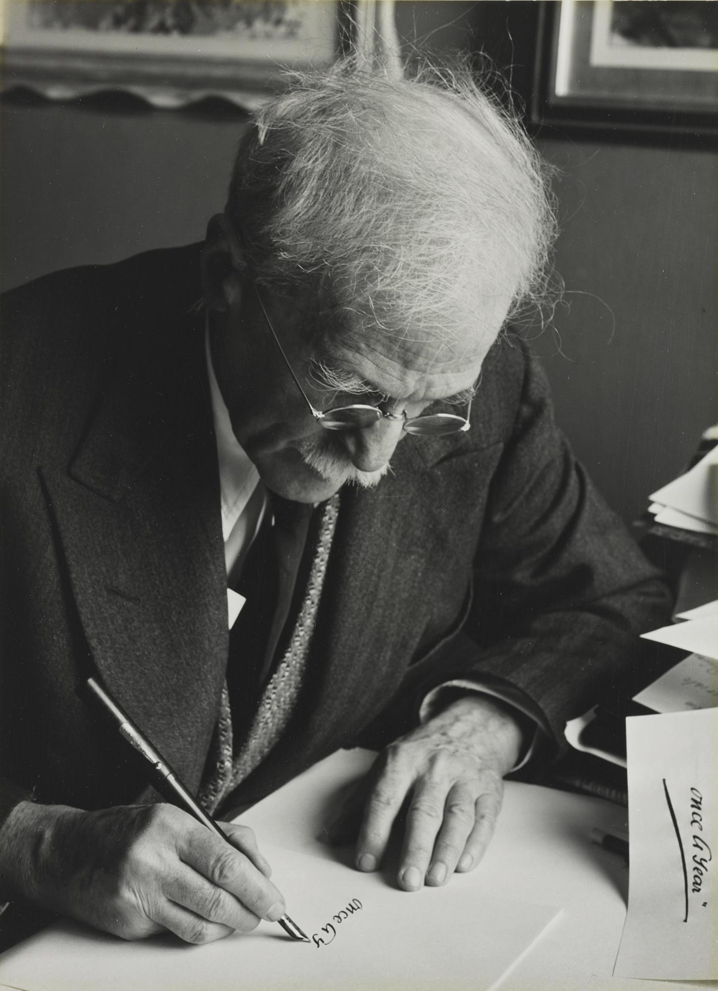 Ansel Adams-Portrait Of Alfred Stieglitz-1940