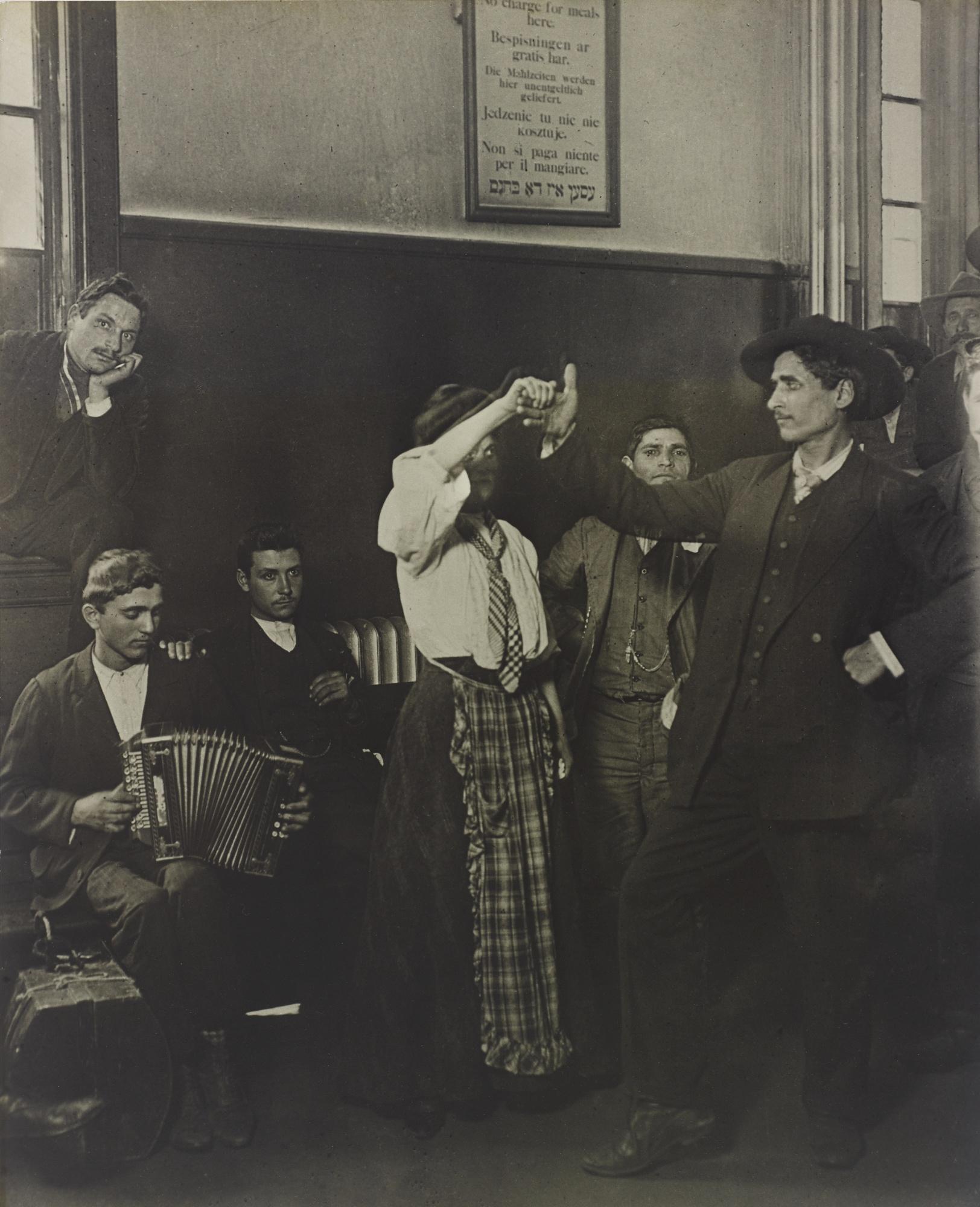 Lewis Wickes Hine-Immigrants Dancing At Ellis Island-1905