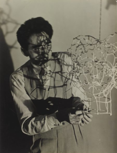 Man Ray-Jean Cocteau And Wire Sculpture-1925
