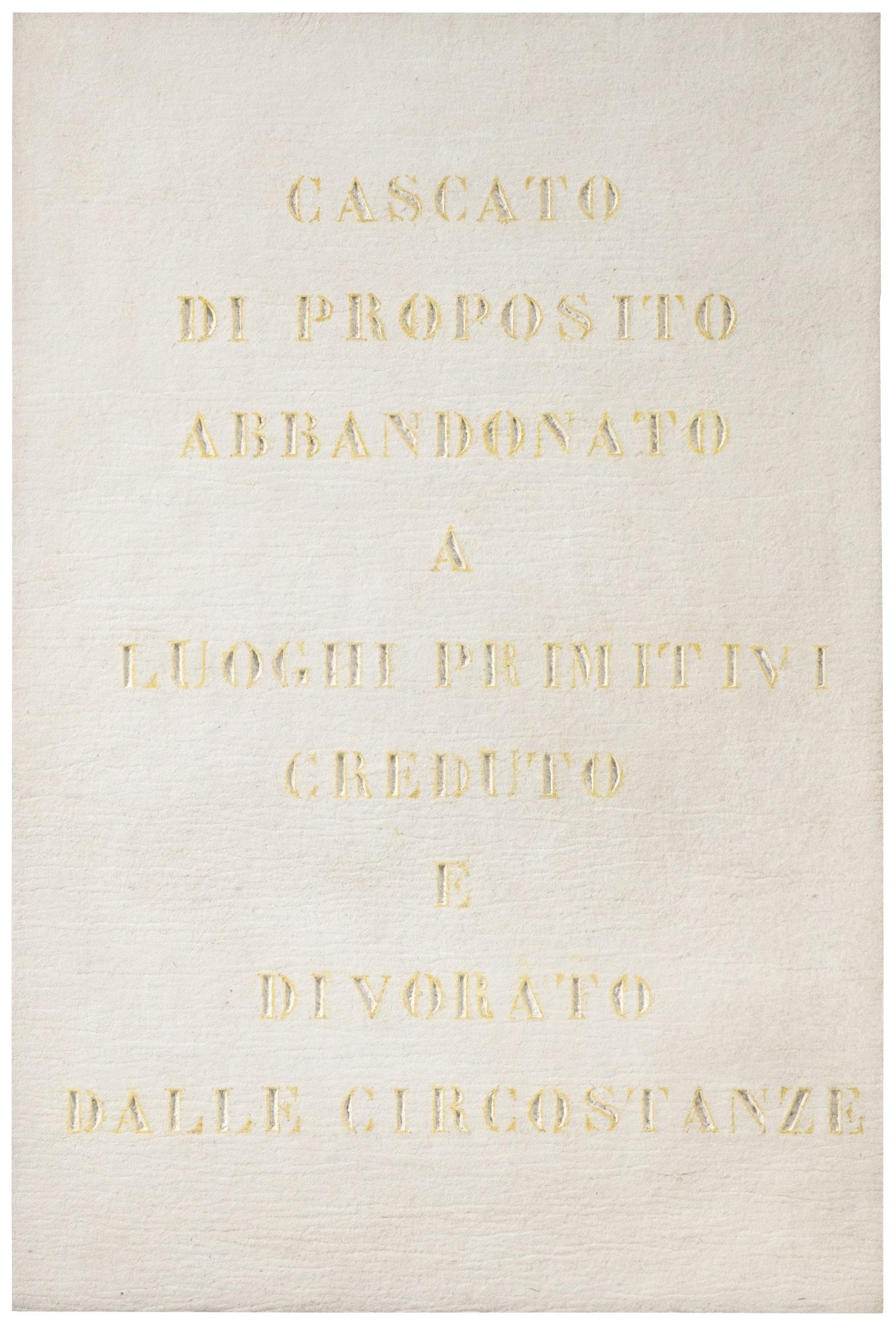 Vincenzo Agnetti-Ritratto Di Missionario-1971