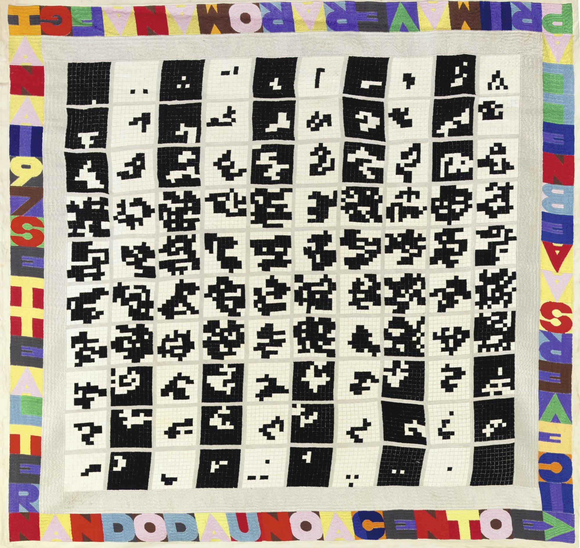 Alighiero Boetti-Alternando Da Uno A Cento EViceversa-1978