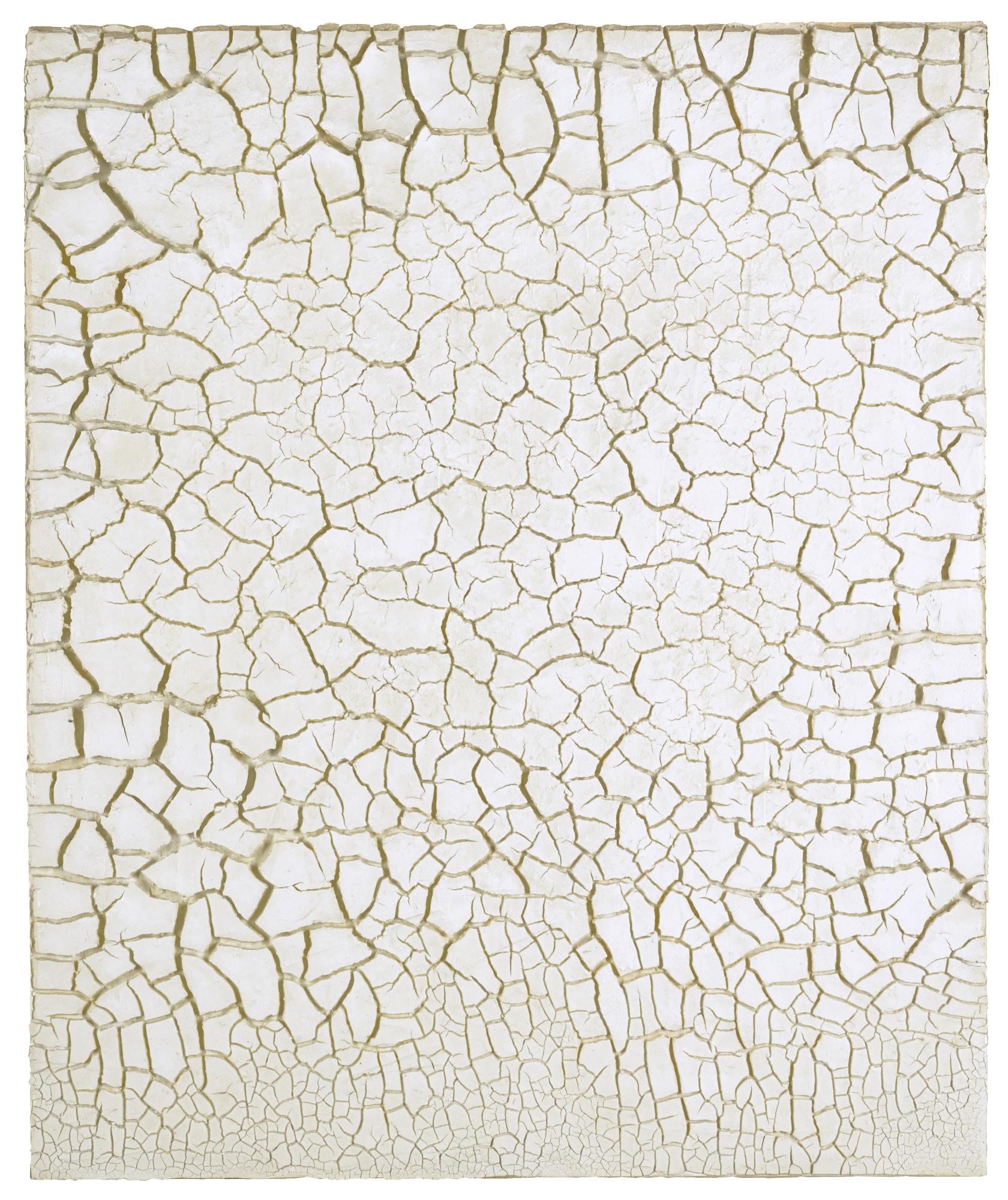 Alberto Burri-Bianco Cretto-1977