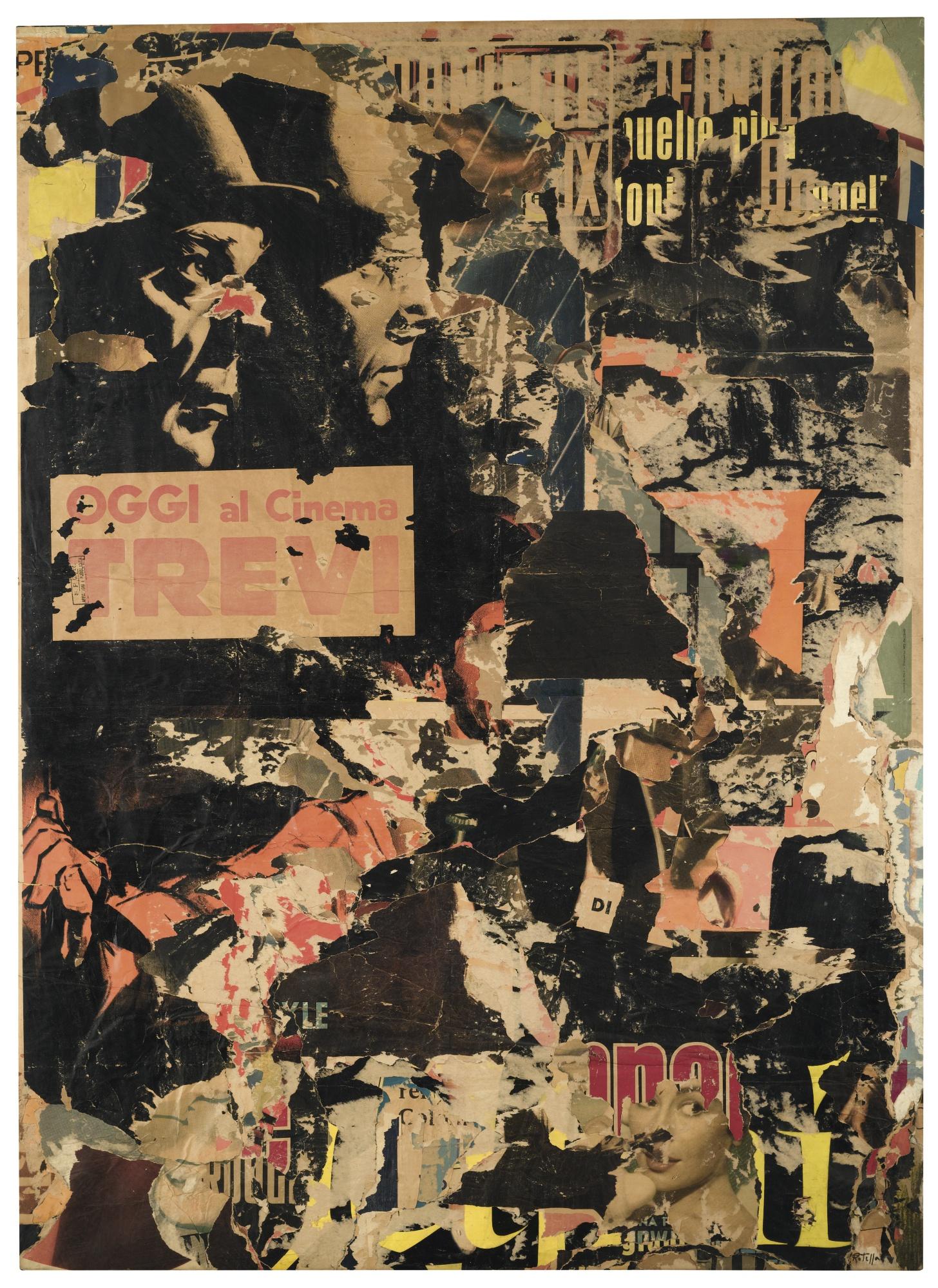 Mimmo Rotella-Avventuroso 2-1962