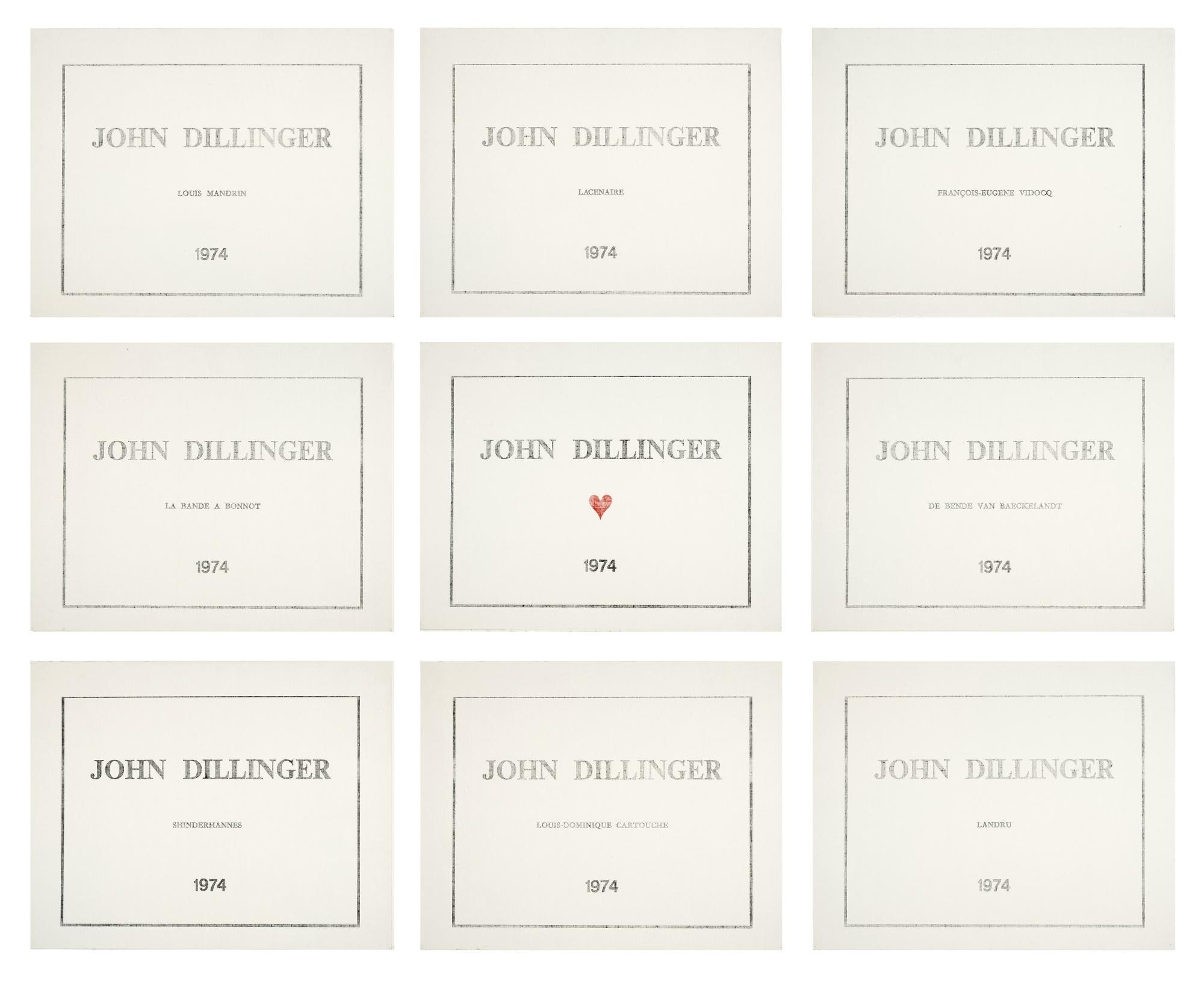 Marcel Broodthaers-Culture Internationale John Dillinger-1974
