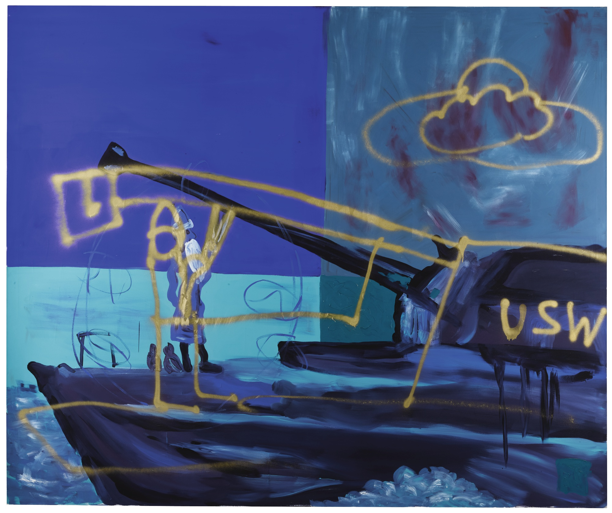 Martin Kippenberger-Untitled (From The Series Krieg Bose / War Wicked)-1991