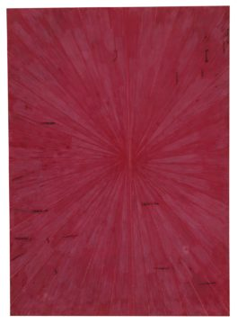 Mark Grotjahn-Untitled (Pure Crimson Red Butterfly 818)-2009