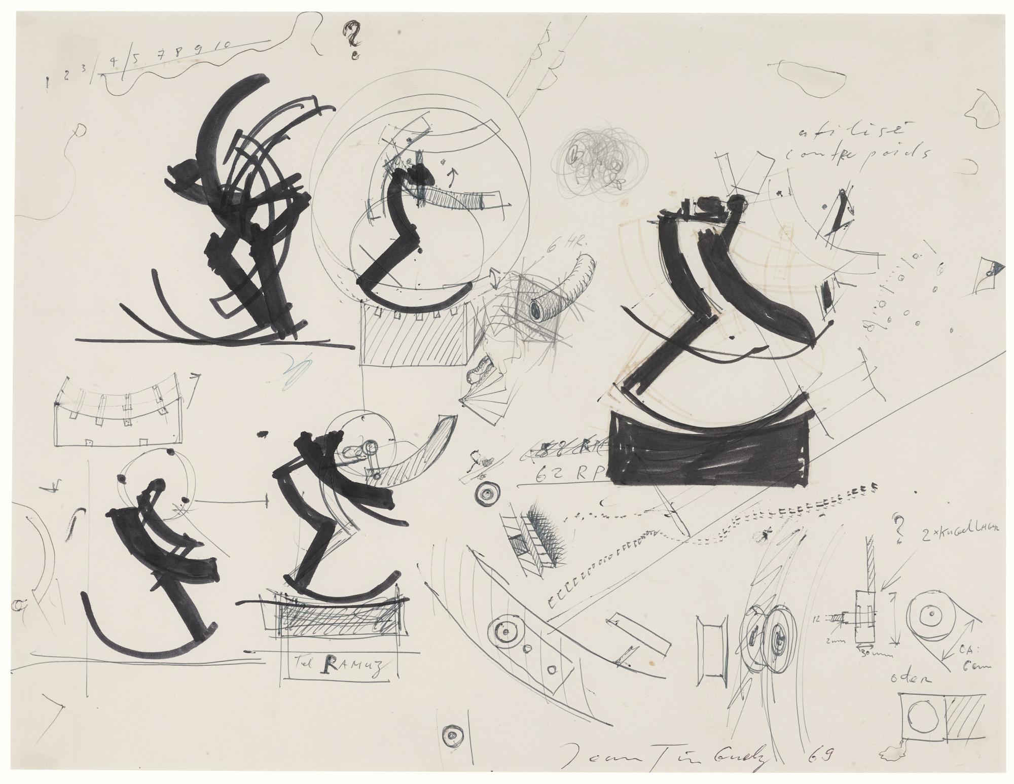 Jean Tinguely-Etude Pour Une Bascule (Study For A Machine)-1969