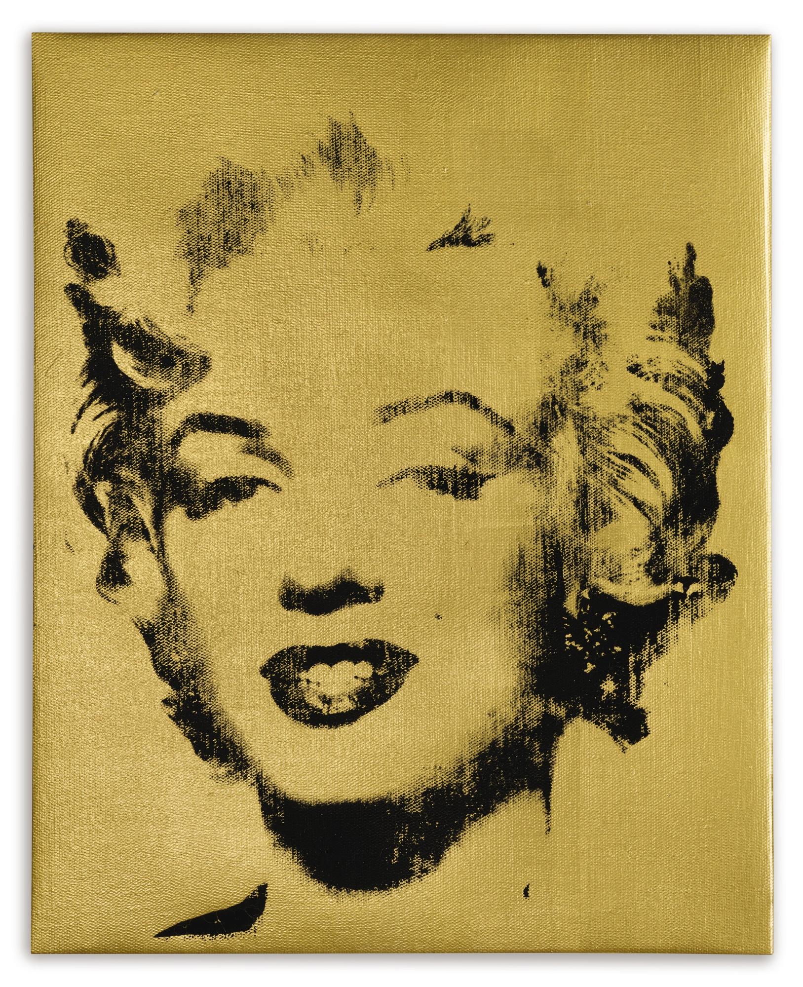 Elaine Sturtevant-Warhol Gold Marilyn-2004