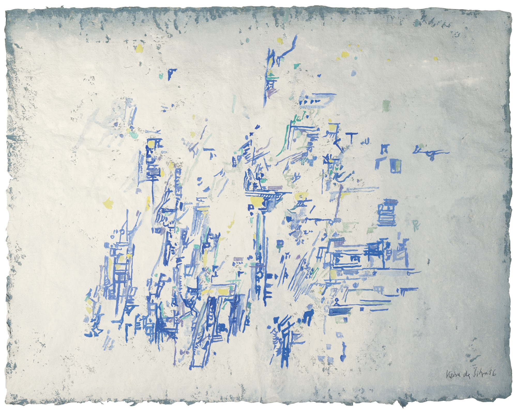Maria Helena Vieira da Silva-Composition Bleue-1956