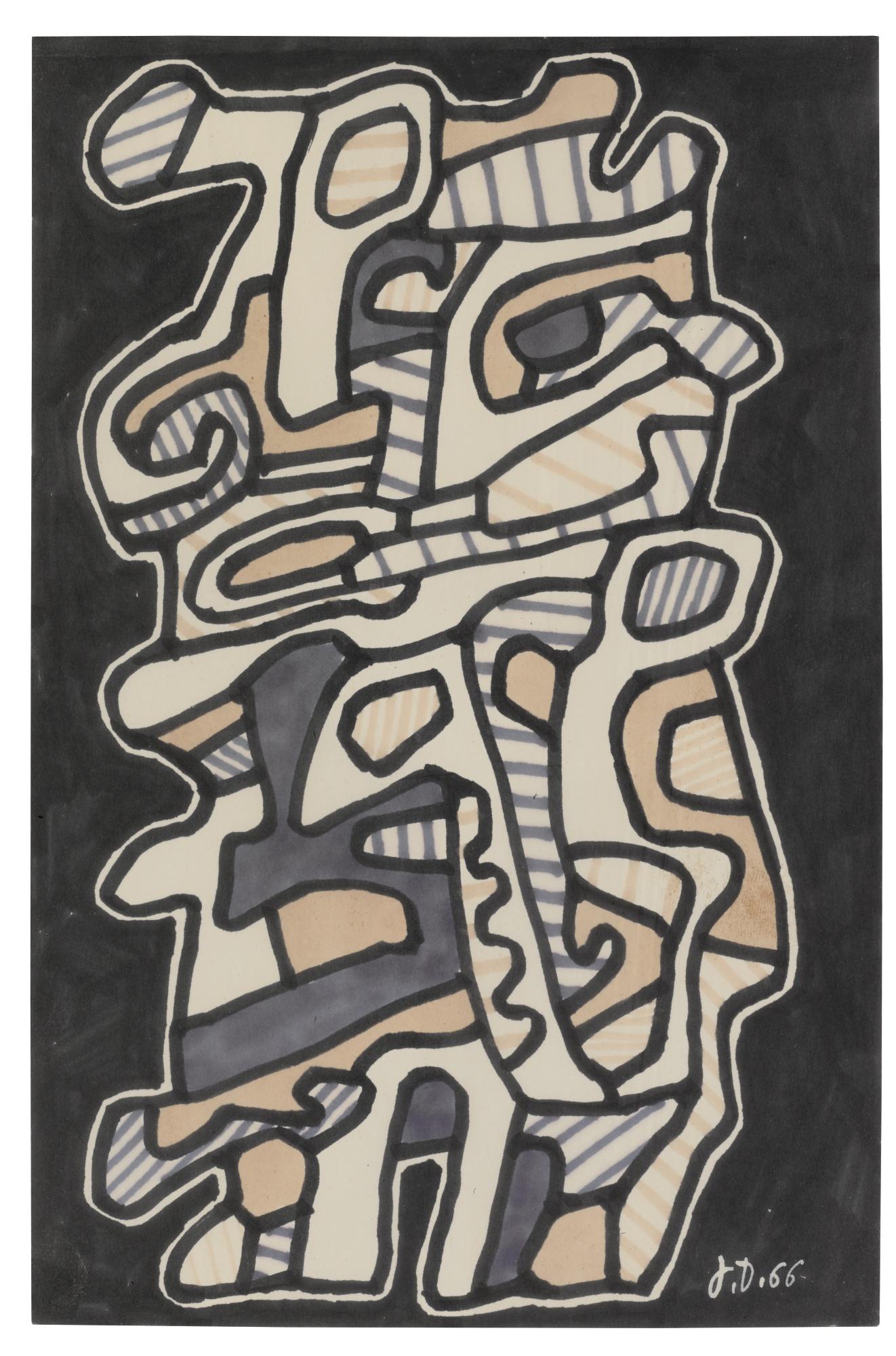 Jean Dubuffet-Le Capitaliste-1966