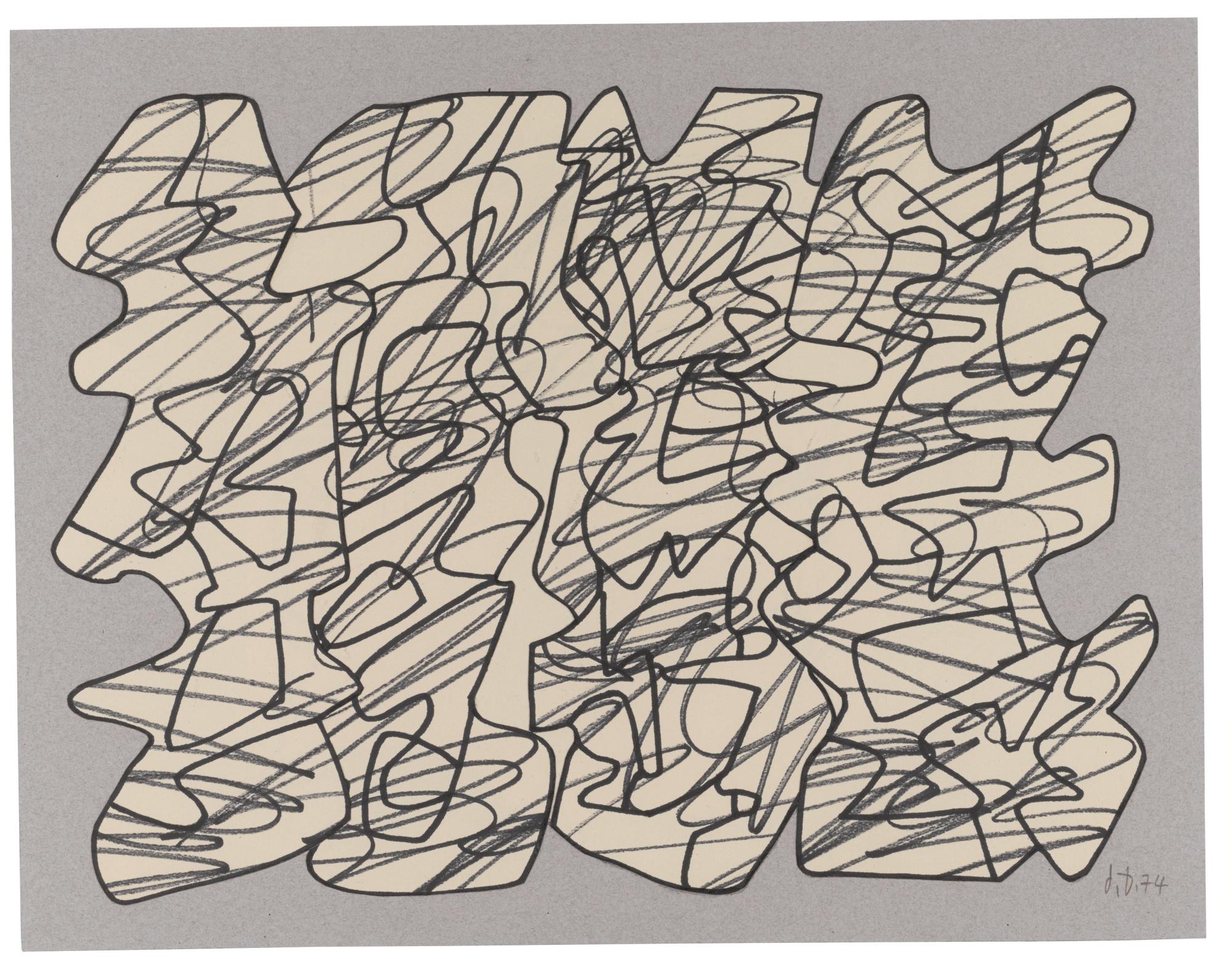 Jean Dubuffet-Recit XVIII-1974