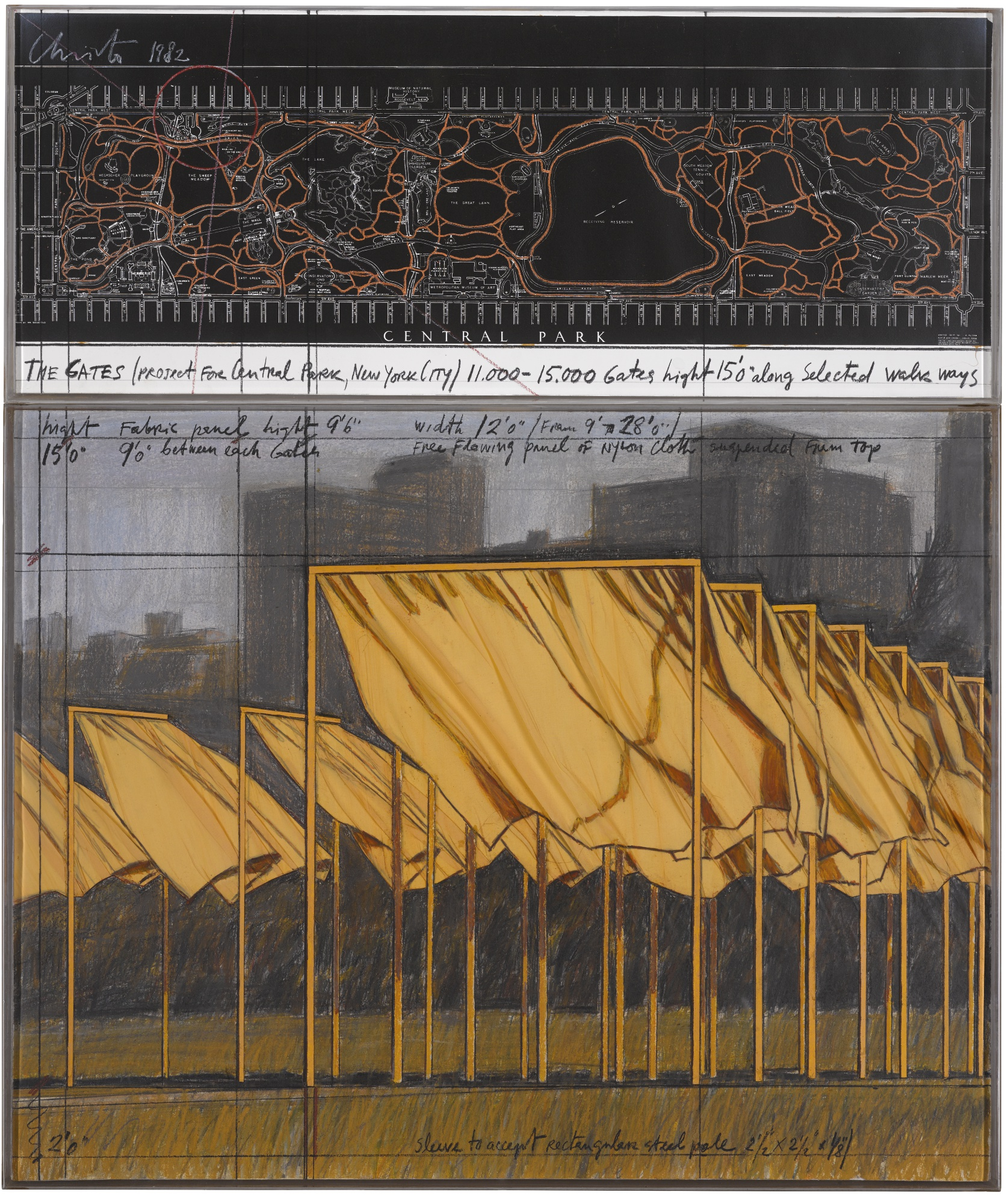 Christo and Jeanne-Claude-The Gates (Project For Central Park New York City)-1982