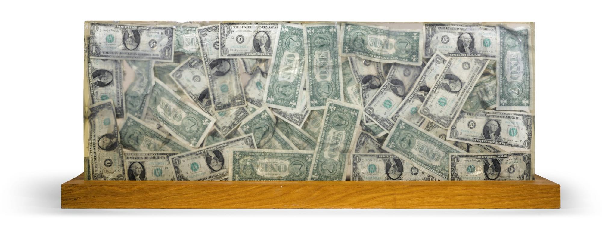 Arman-Stele Aux Dollars-1973
