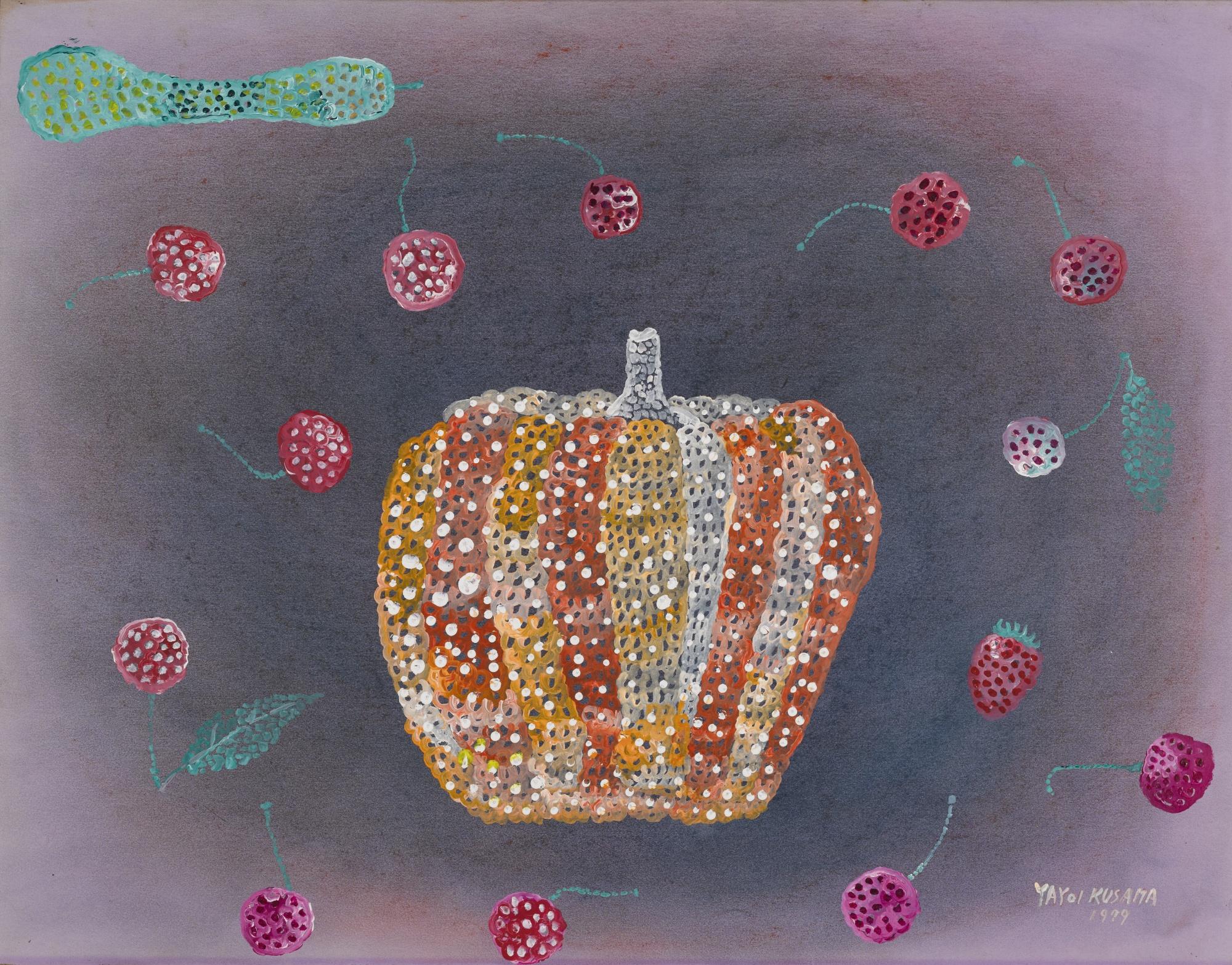 Yayoi Kusama-Landscape With Pumpkin-1979