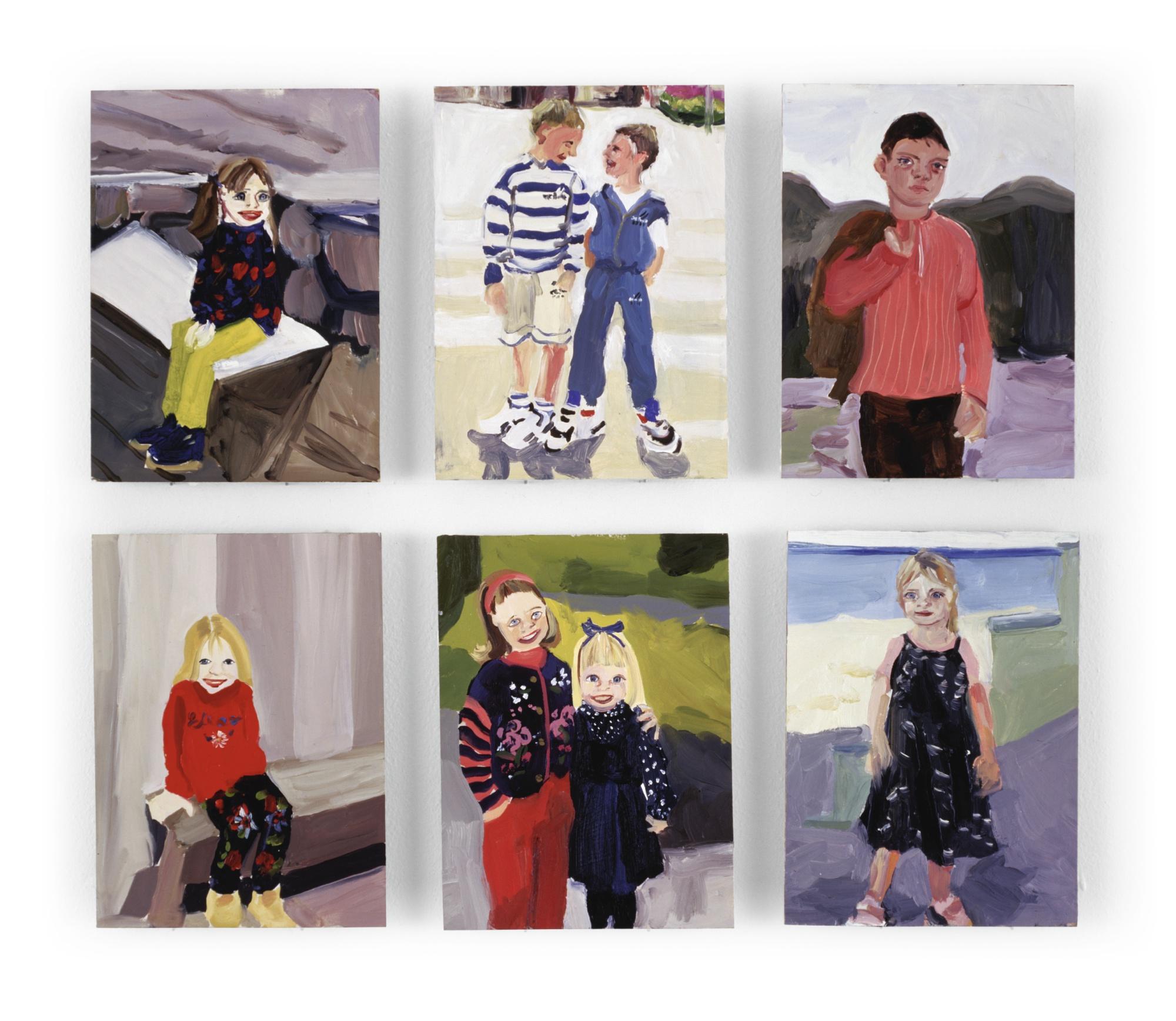 Chantal Joffe-Untitled (Six Works)-1995