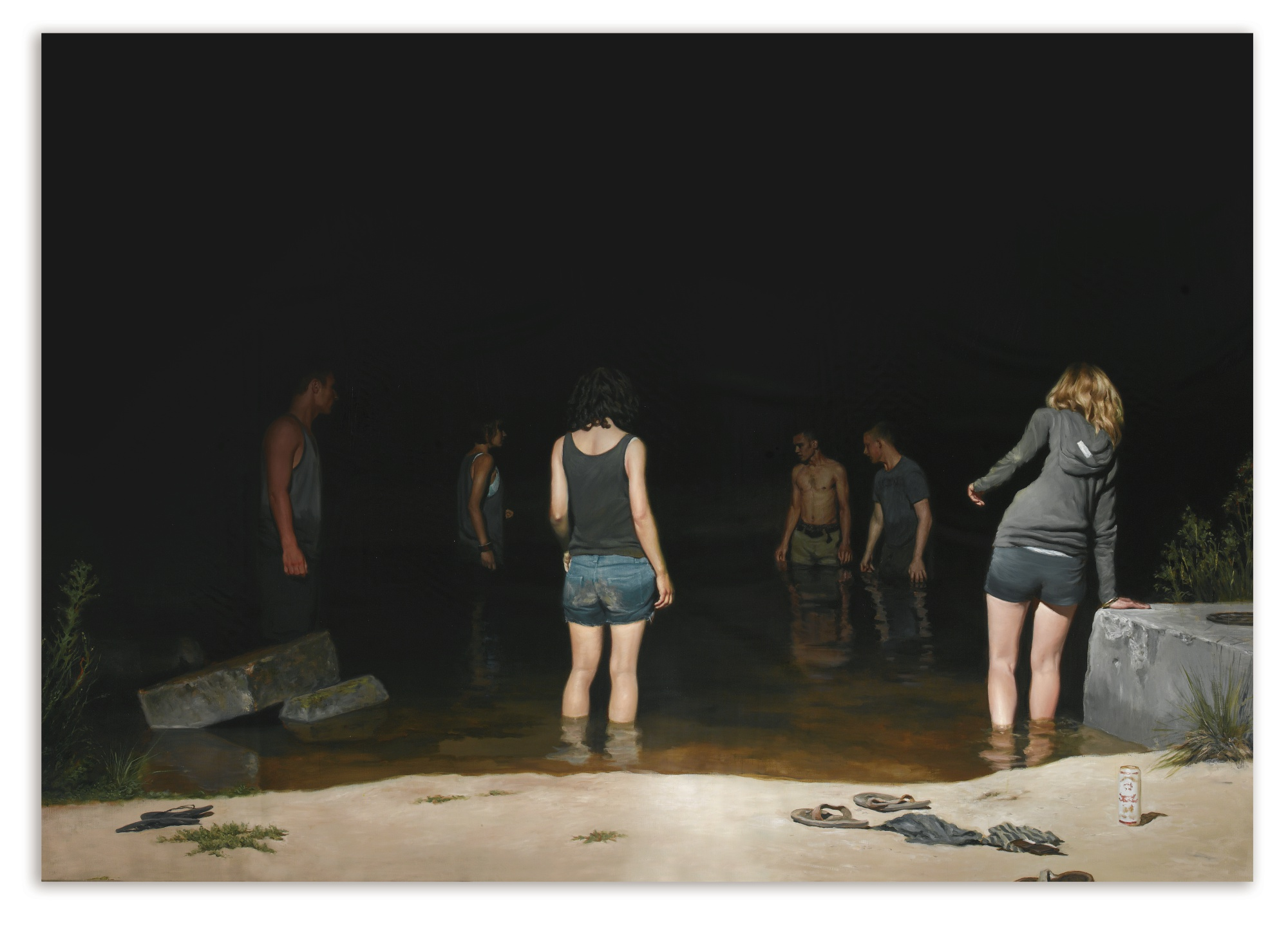 Jonathan Wateridge-Swimming Hole-2011