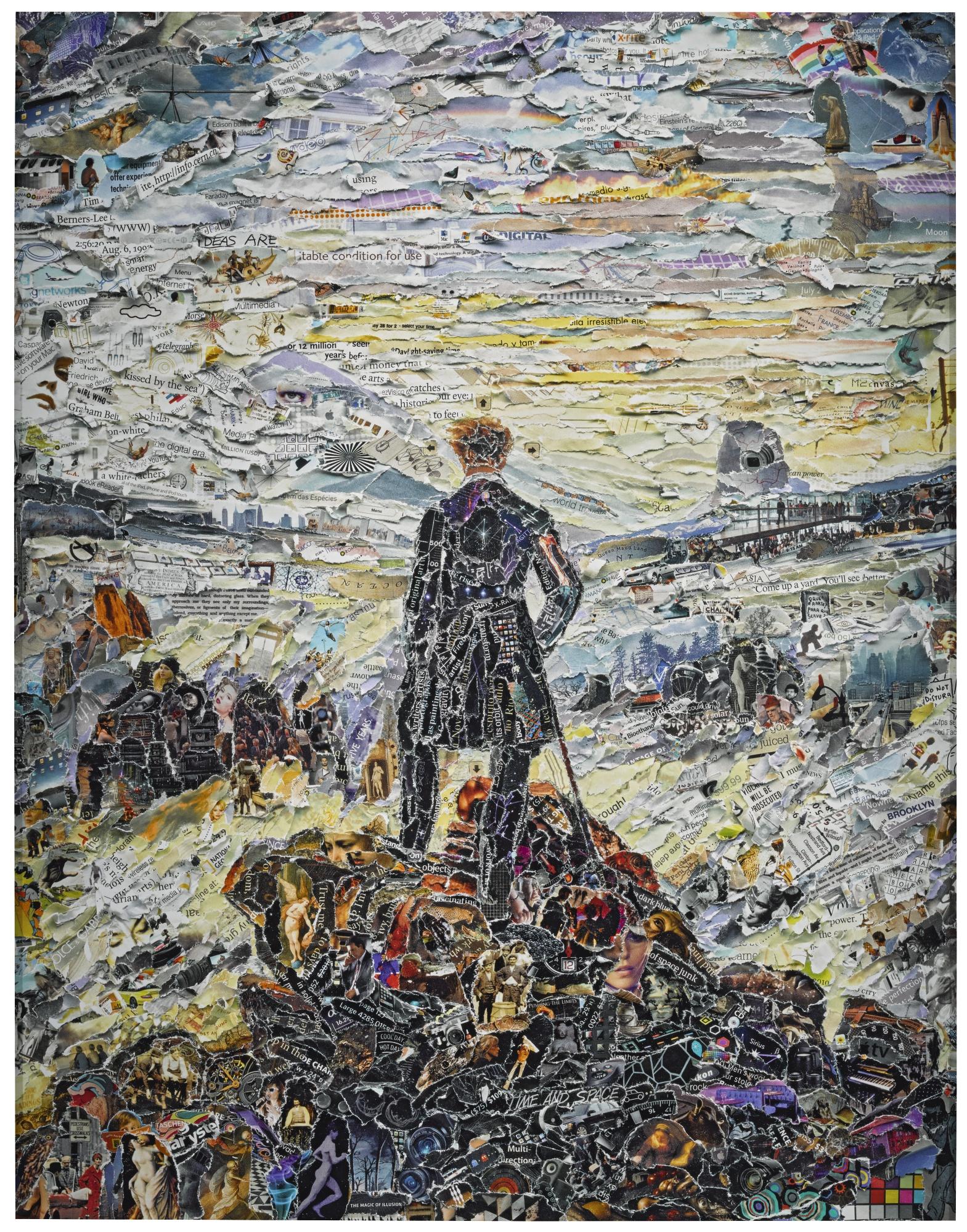 Vik Muniz-Wanderer Above The Sea Of Media After Caspar David Friedrich (Pictures Of Magazines 2)-2011