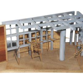 Tadashi Kawamata-Model for Project Work, Saitama and two preparatory drawings-1983