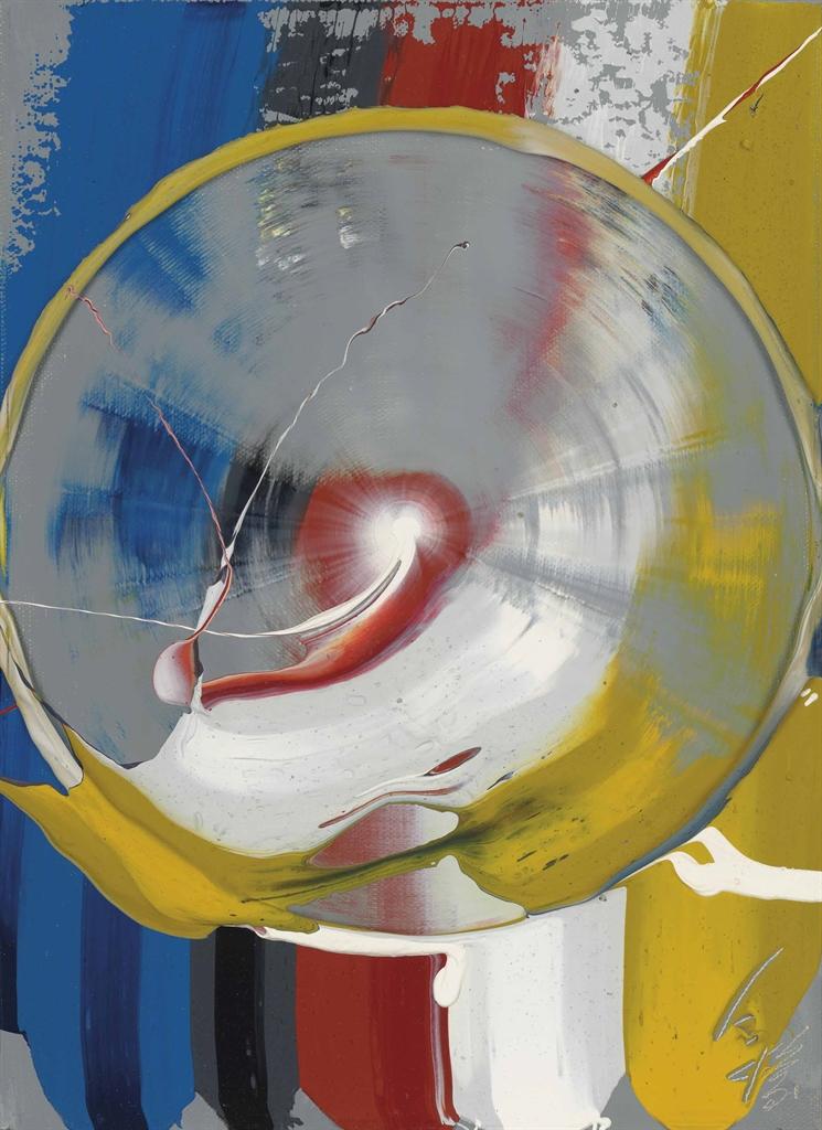 Kazuo Shiraga-Goshiki Zanmai (Five Colour Samadhi)-1976