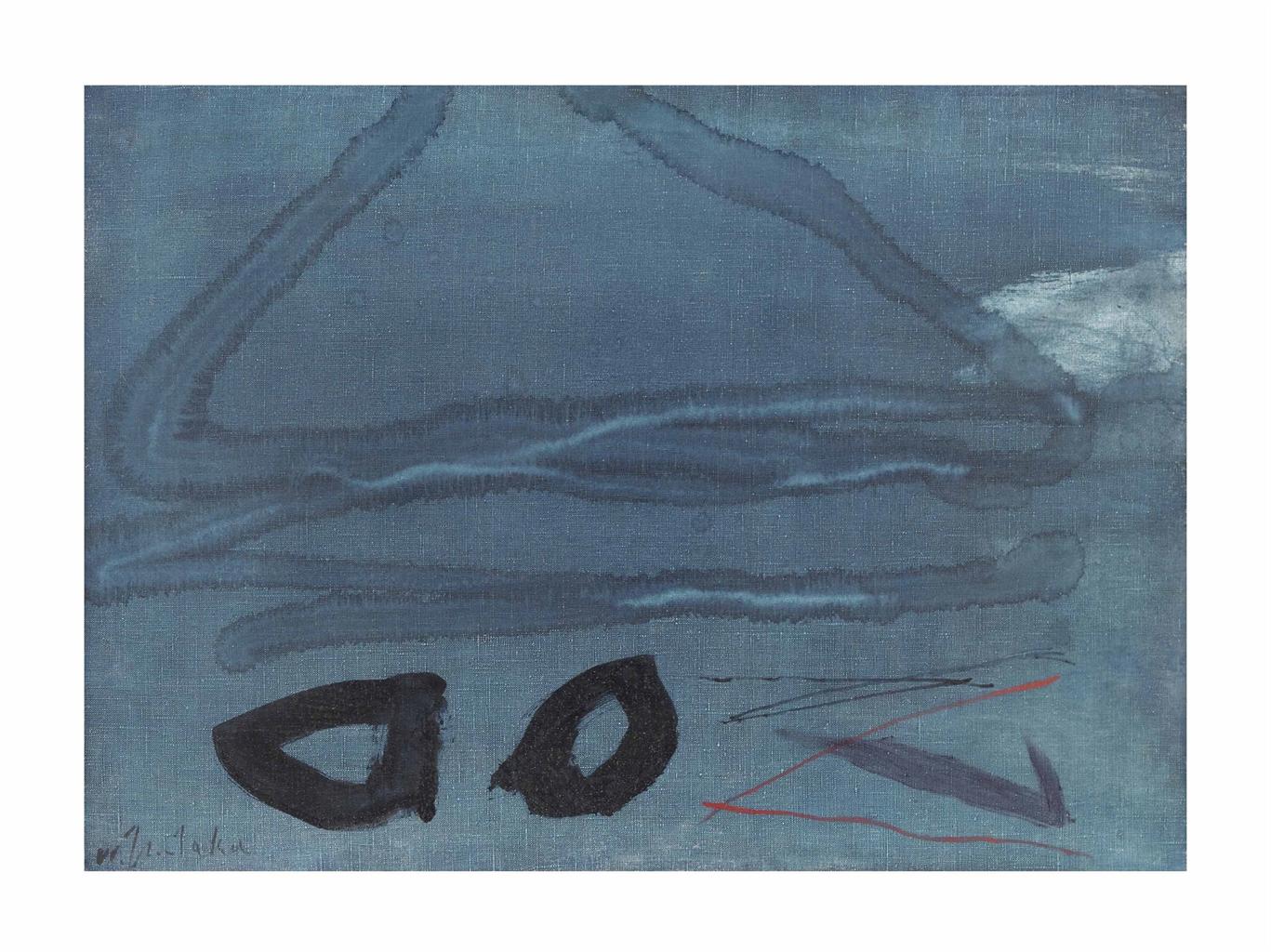 Waichi Tsutaka-Work, Blue no. 429-1966