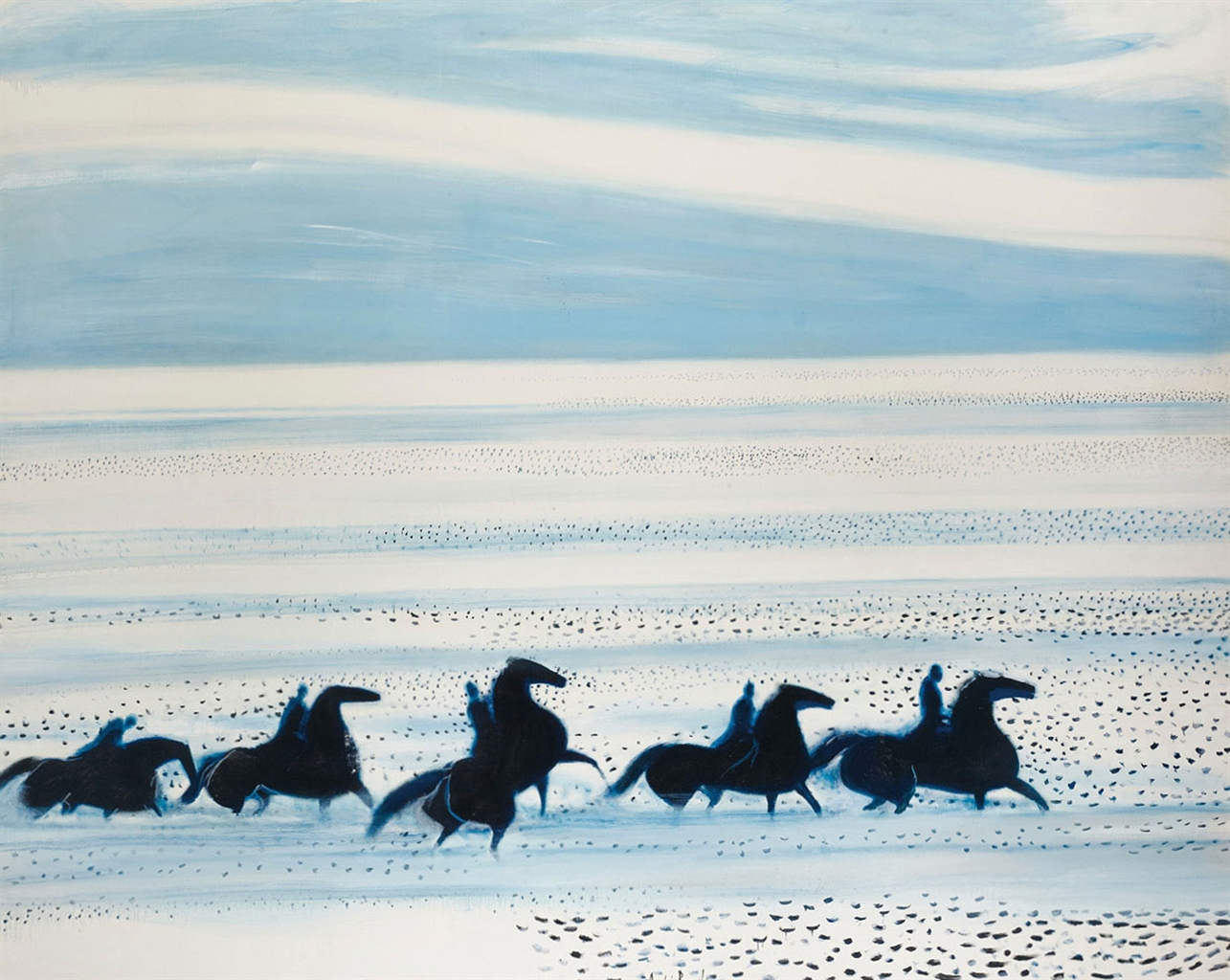 Andre Brasilier-Les chevaux de Neptune-1977
