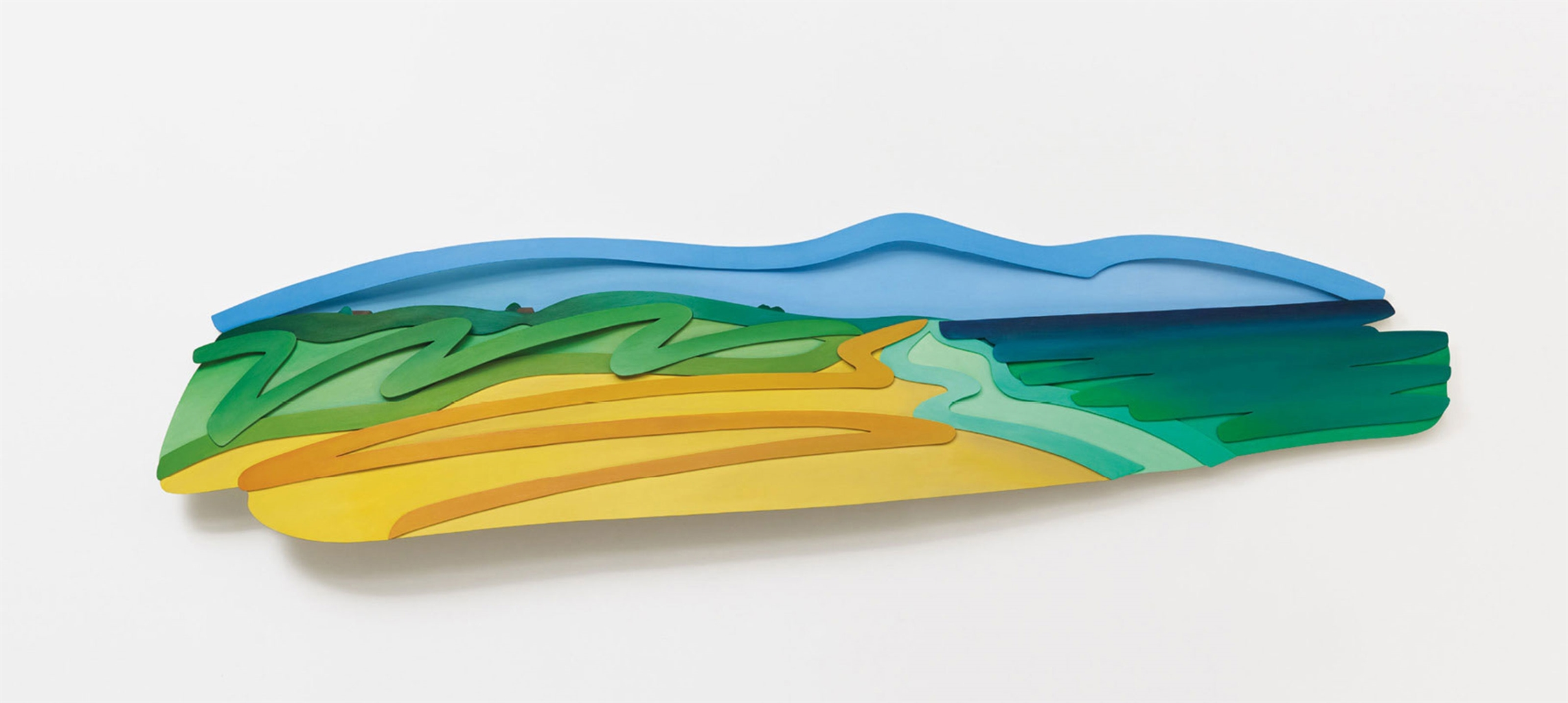 Tom Wesselmann-Seascape with Clouds (3-D) (Filled In)-1994