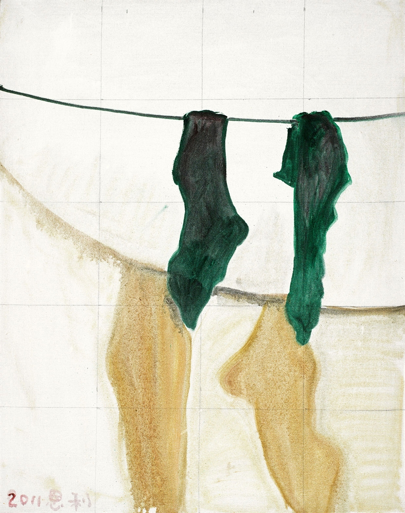 Zhang Enli-A Pair of Socks-2011