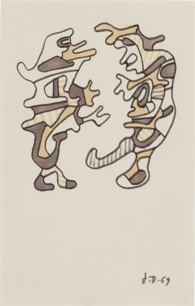 Jean Dubuffet-Deux Personnages-1969
