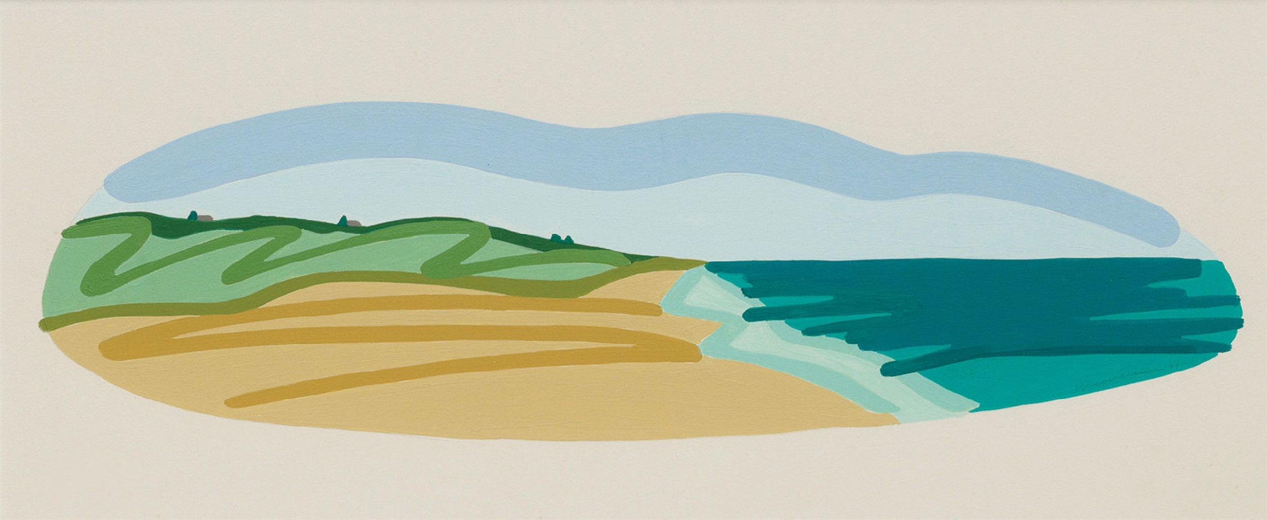 Tom Wesselmann-Study for Seascape with Clouds-1991