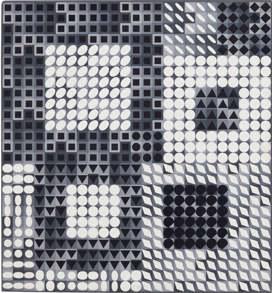 Victor Vasarely-OUR-2-1963