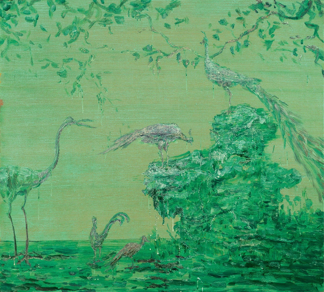 Luo Quanmu-Green Peacock-2005