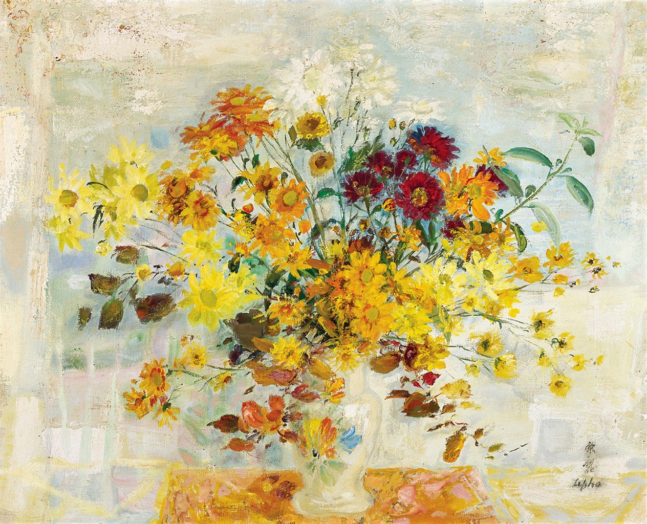 Le Pho-Chrysanthemum Still Life-1970