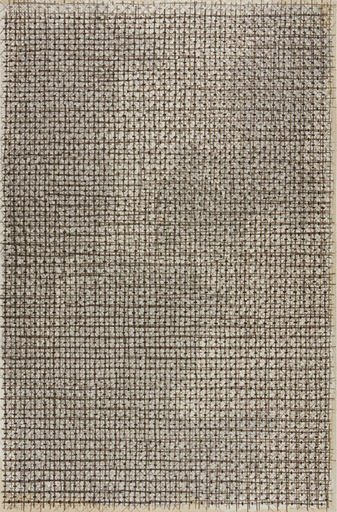 Ding Yi-Appearance Of Crosses - Black & White Ii-2007