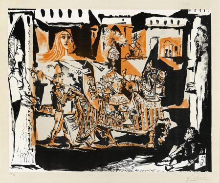 Pablo Picasso-The Departure (B. 686; M. 201)-1951