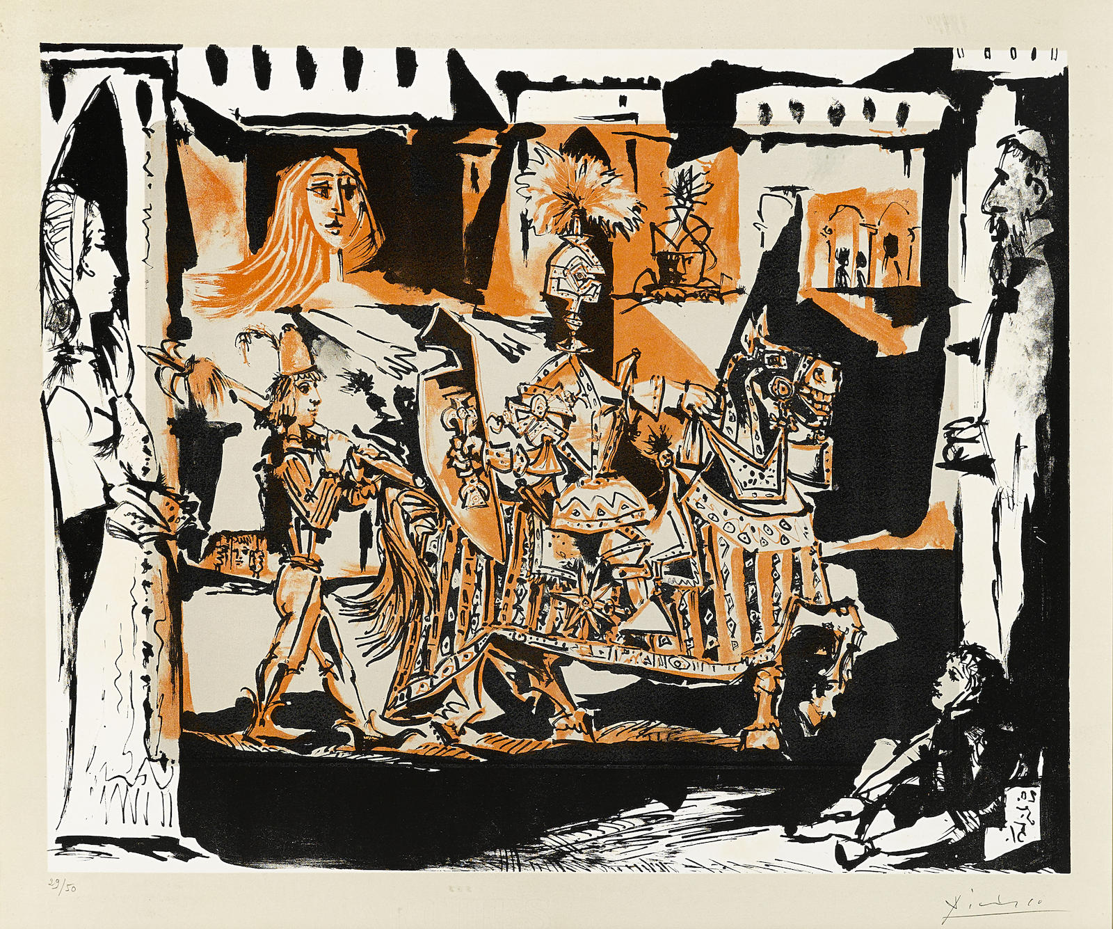 Pablo Picasso-The Departure (B. 686; M. 201)-1951