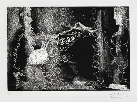 Pablo Picasso-Peintre et Modèle de Profil (B. 1401; Ba. 1373)-1966