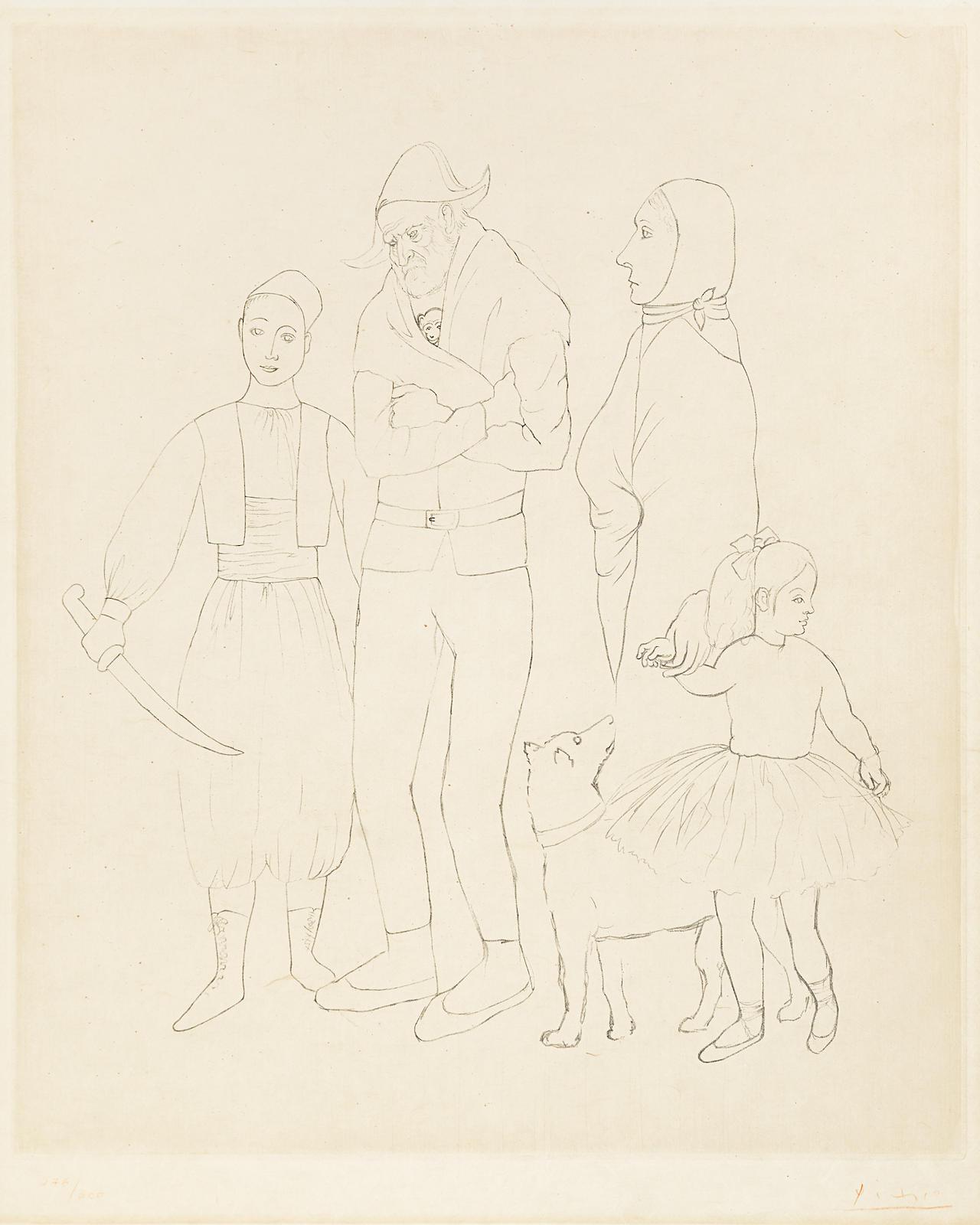 Pablo Picasso-After Pablo Picasso - Famille des Saltimbanques, c. 1950-1950