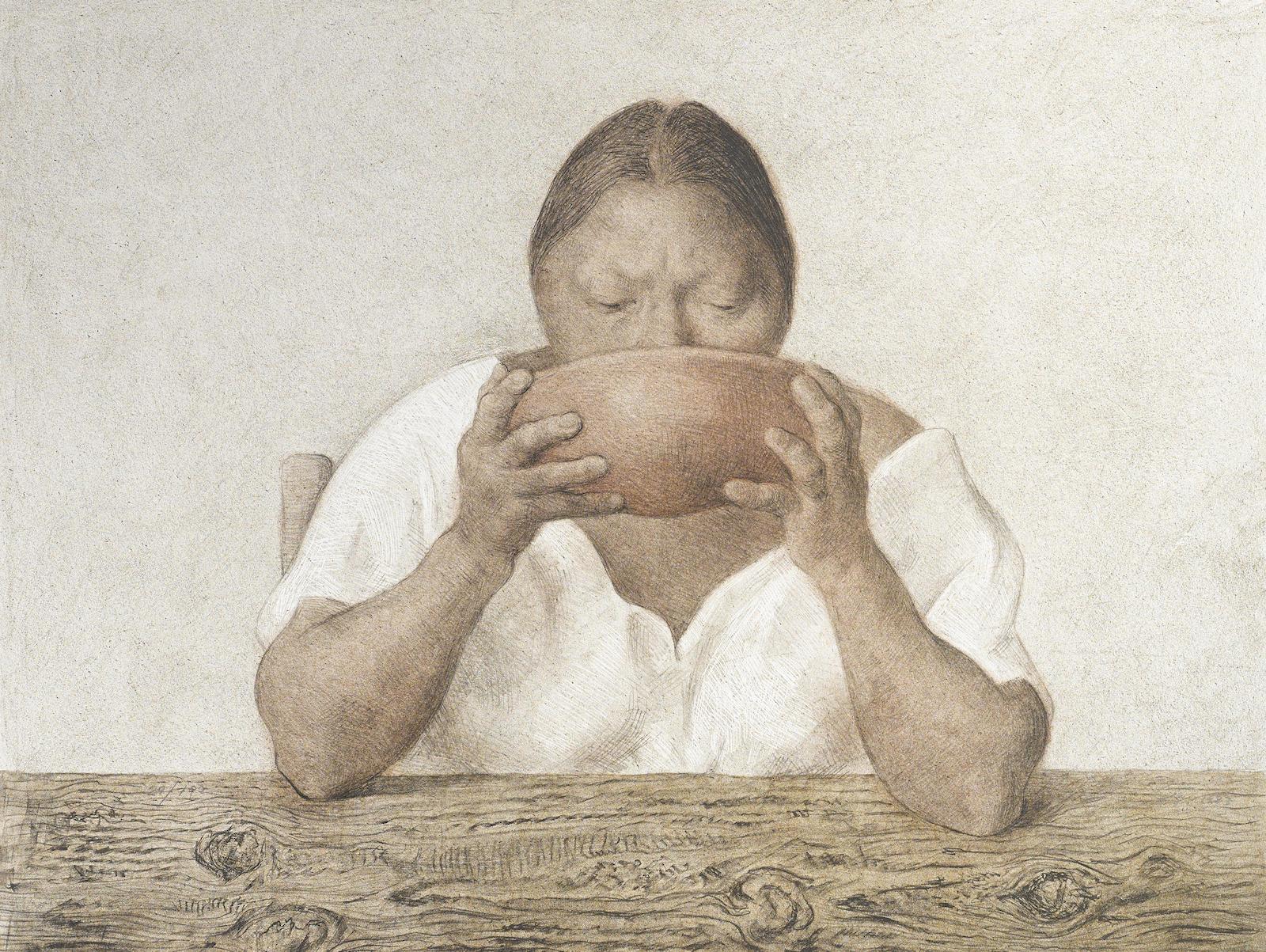 Francisco Zuniga-Mujer con Olla (B. 90)-1983
