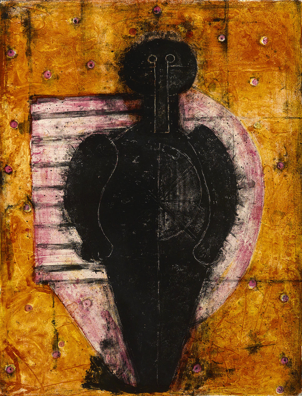 Rufino Tamayo-Hombre en Negro (P. 75)-1960