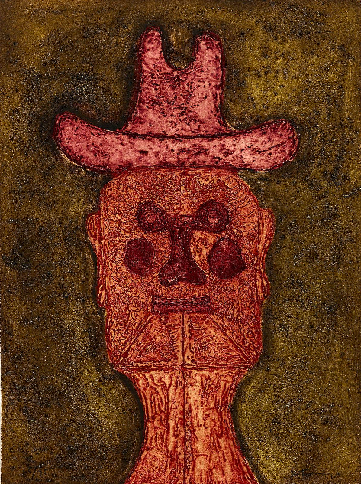 Rufino Tamayo-Hombre con Sombrero, from 15 Aguafuertes (P. 175)-1975